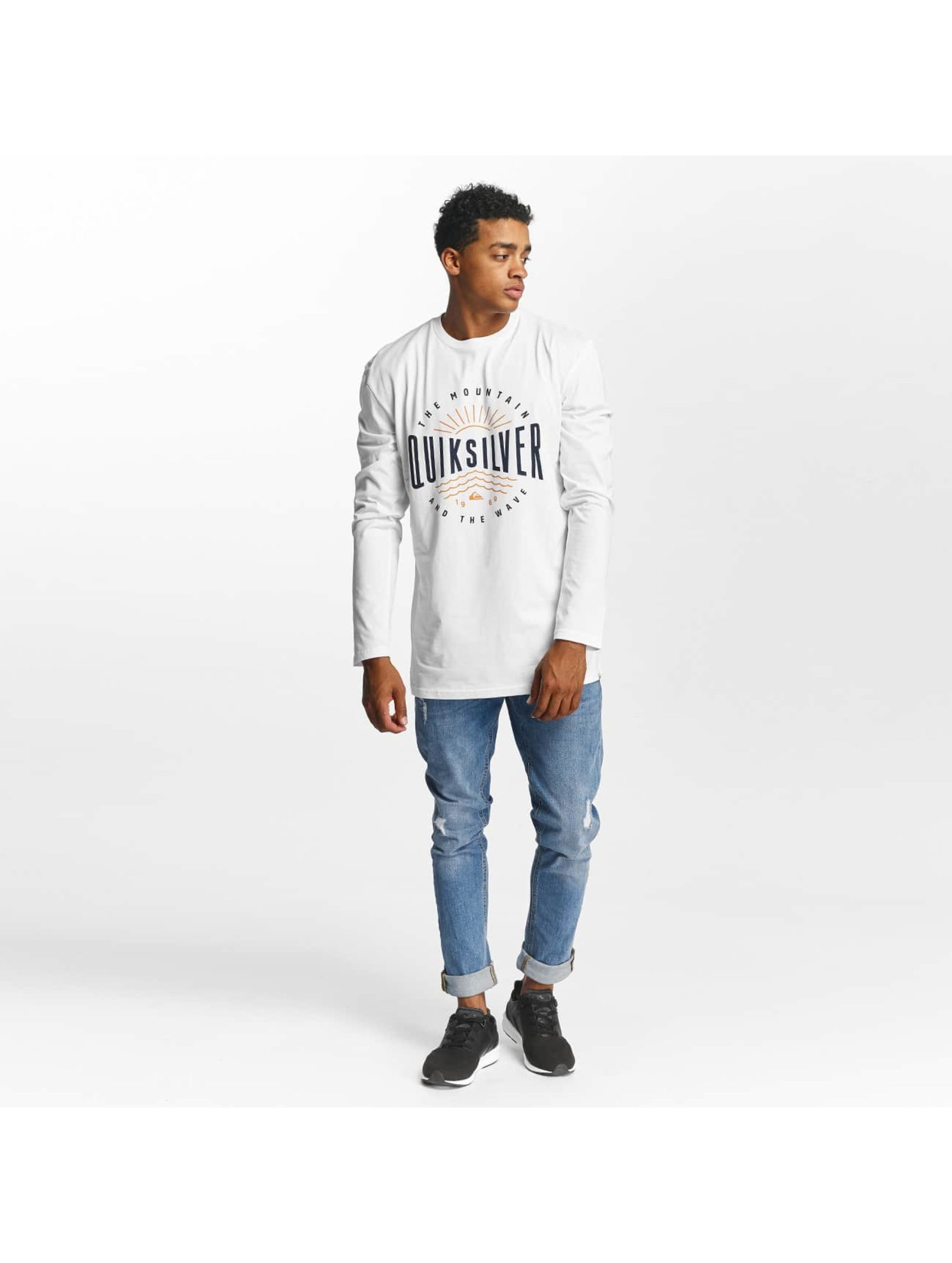 Quiksilver Longsleeves Classic Mad Wave bialy