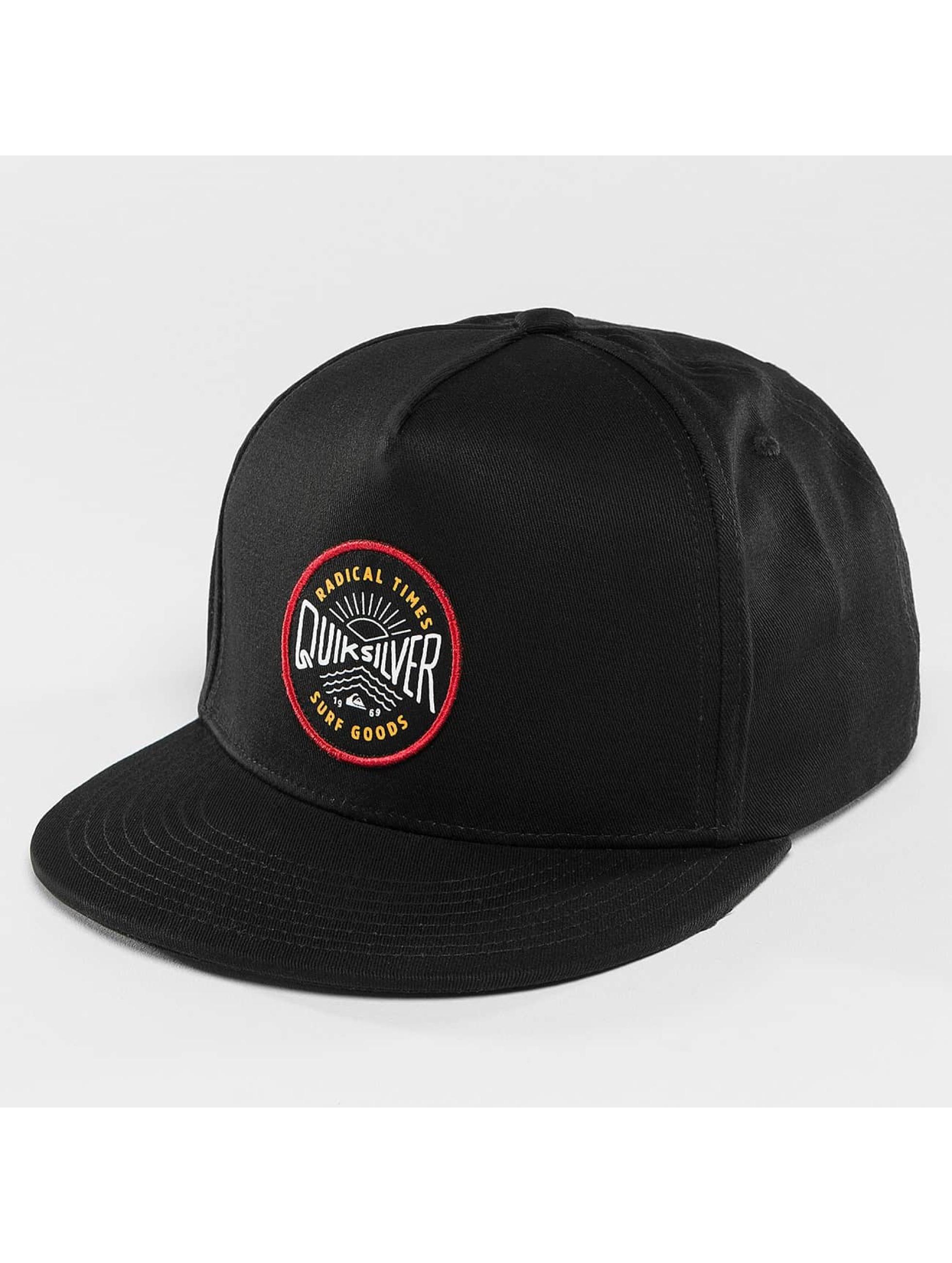 Quiksilver Snapback Caps Mouthy čern