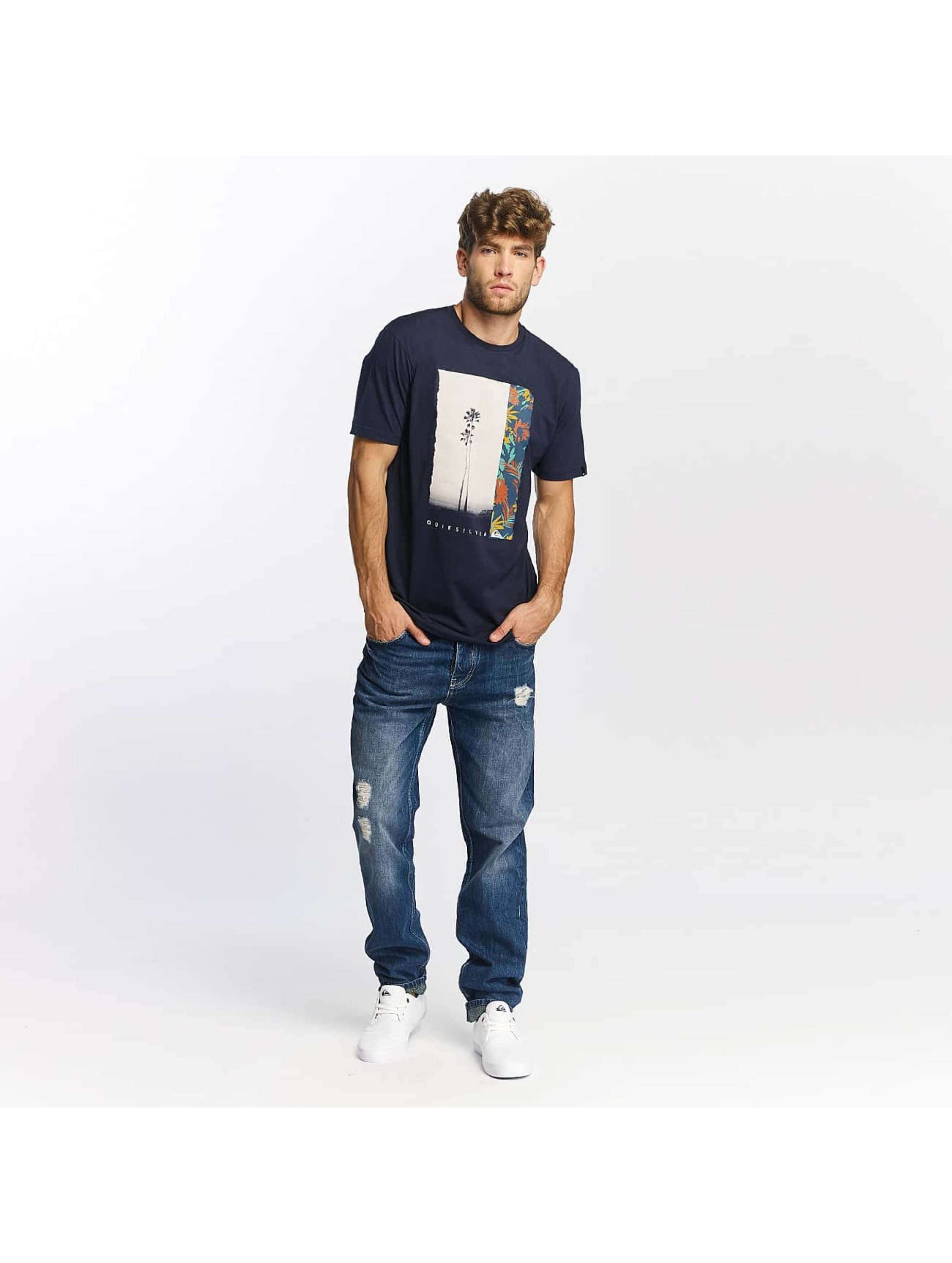 Quiksilver T-Shirt Classic Meridian blau