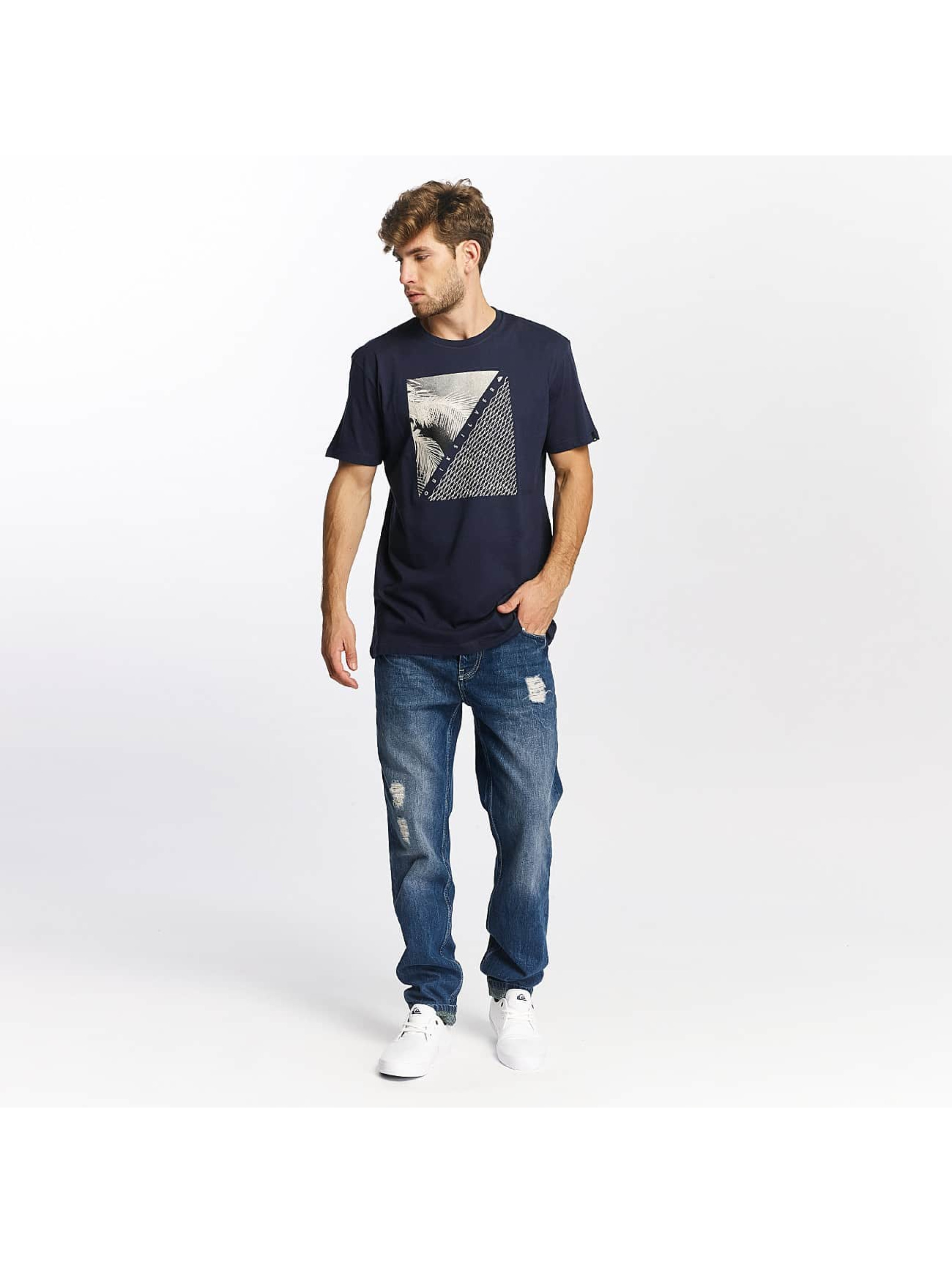 Quiksilver T-Shirt Classic Coast Lines blau