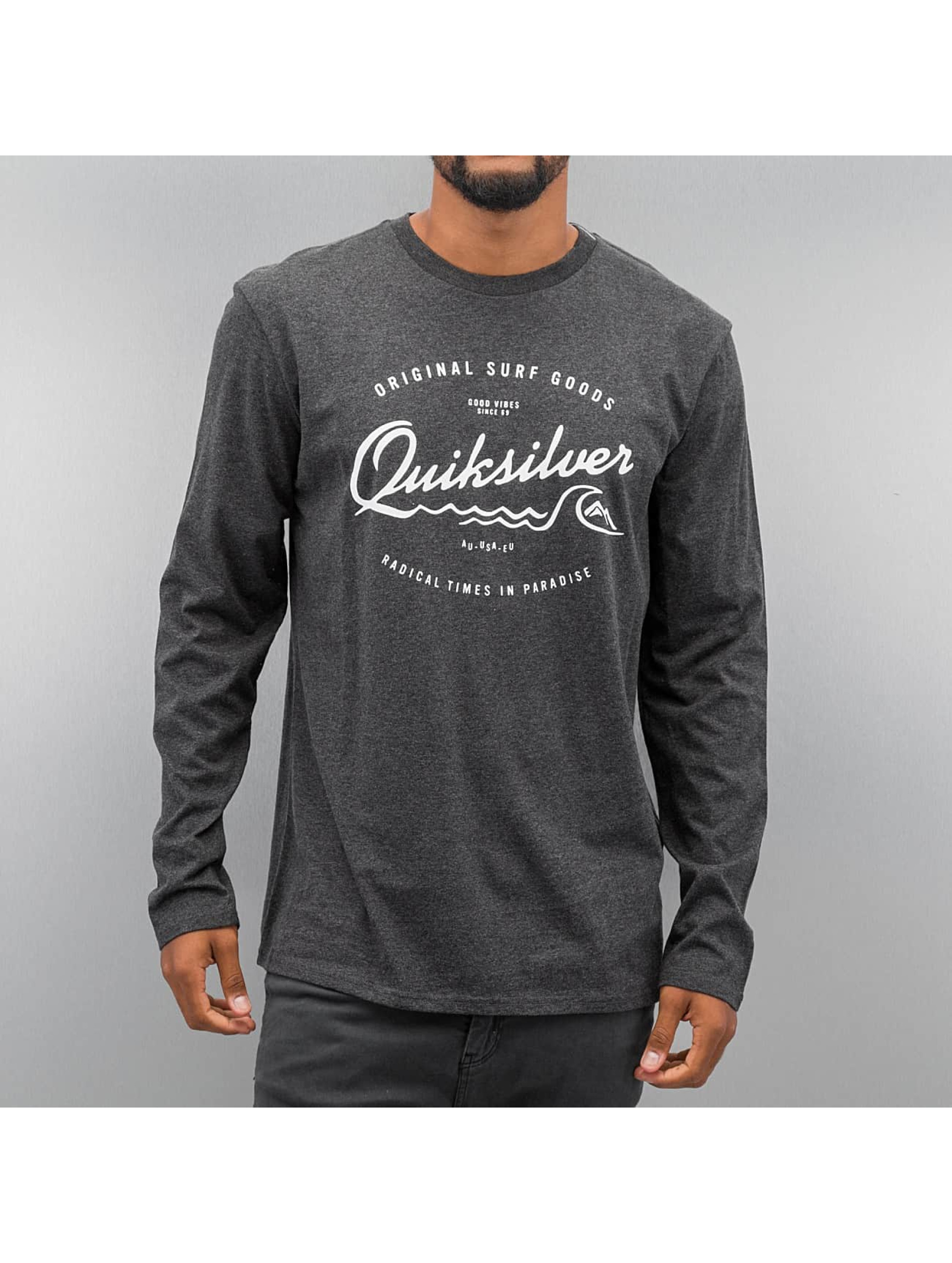 Quiksilver T-Shirt manches longues Classic West Pier gris