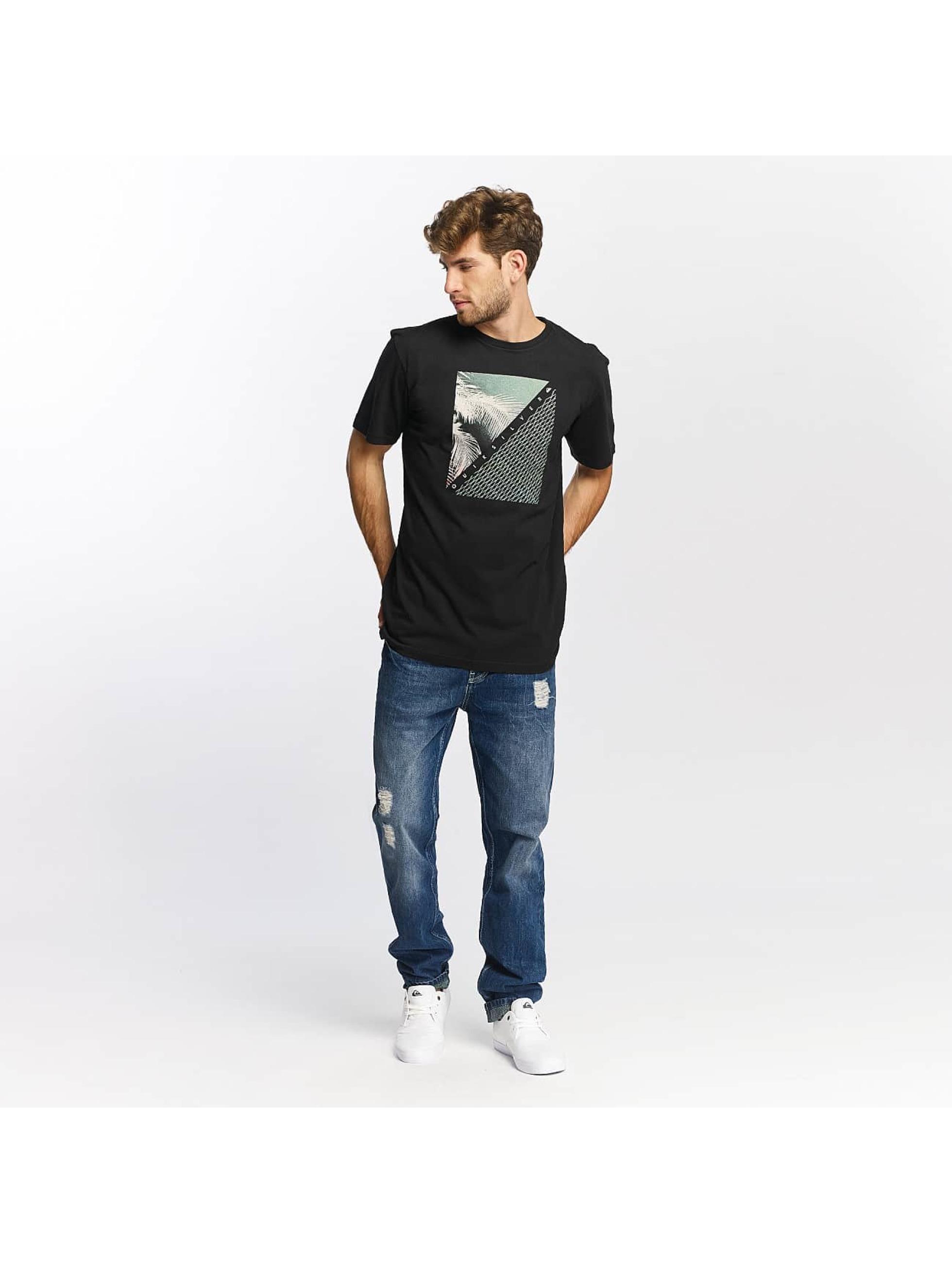 Quiksilver T-shirt Classic Coast Lines nero