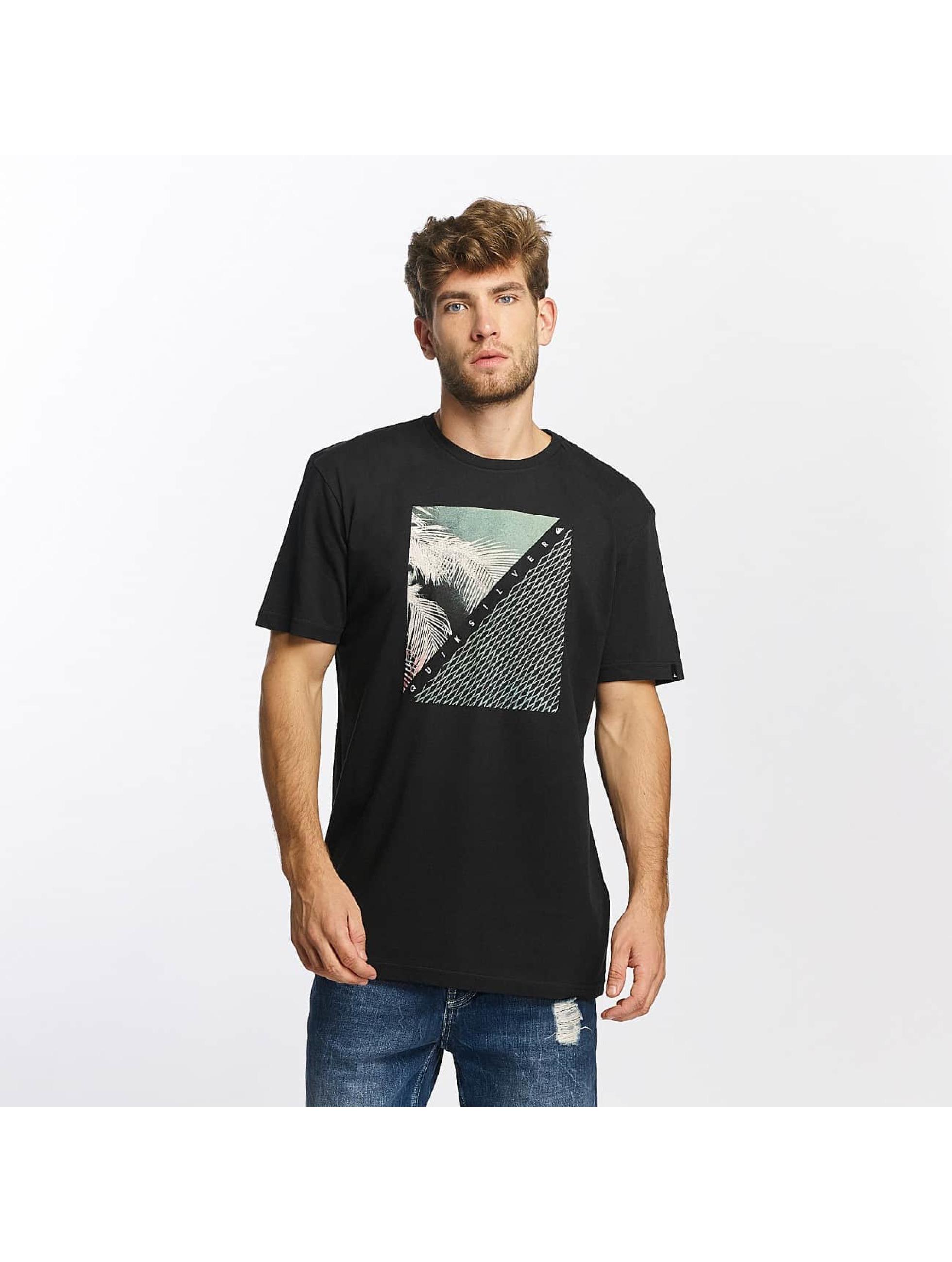 Quiksilver T-Shirt Classic Coast Lines noir