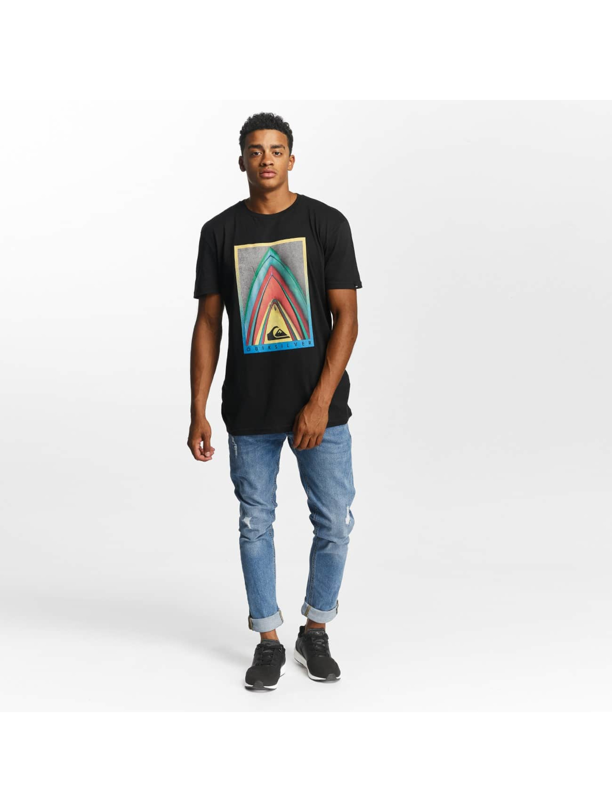 Quiksilver T-Shirt Premium East Stacked noir