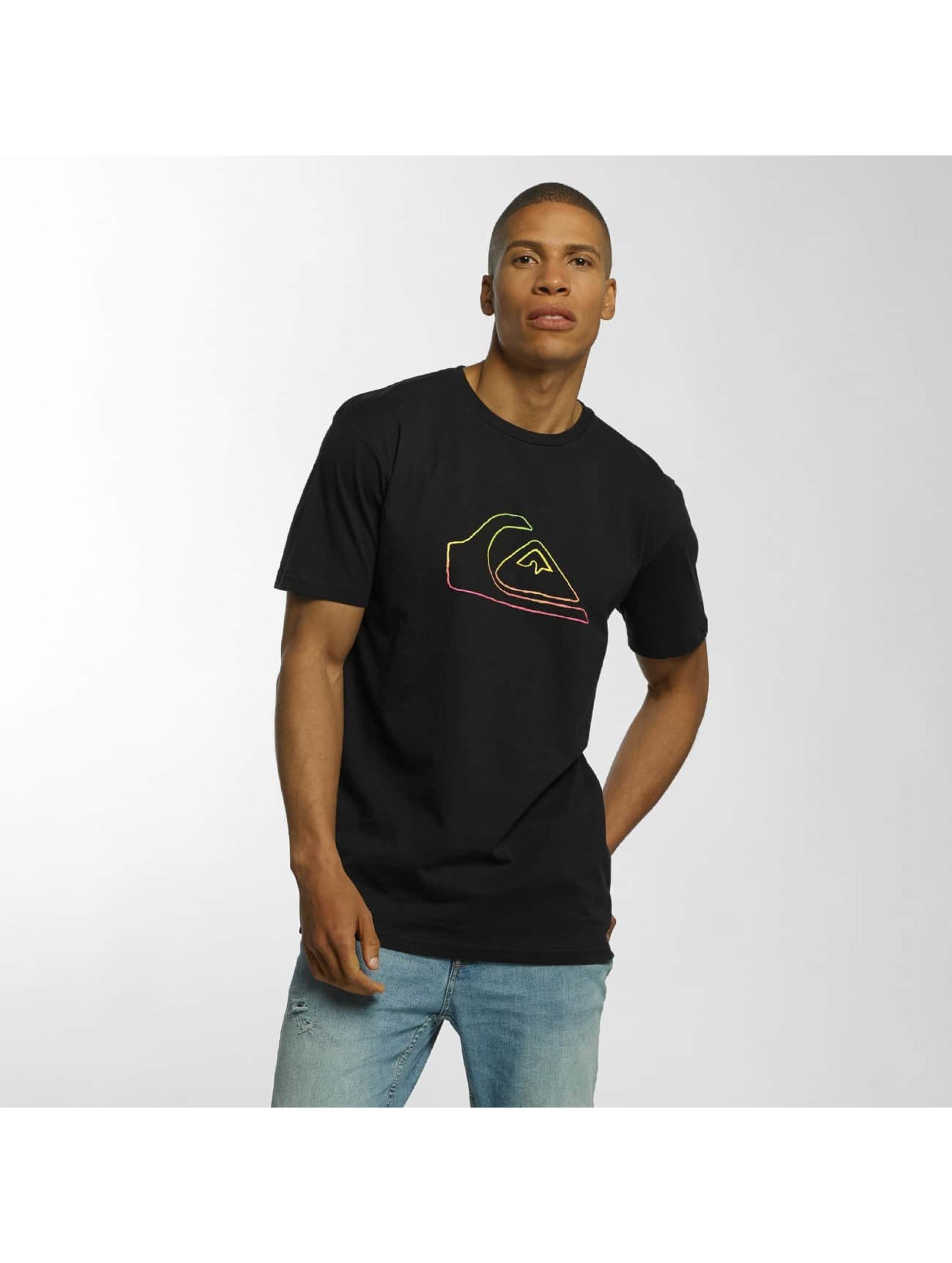 Quiksilver T-Shirt Classic Jungle Mountain schwarz