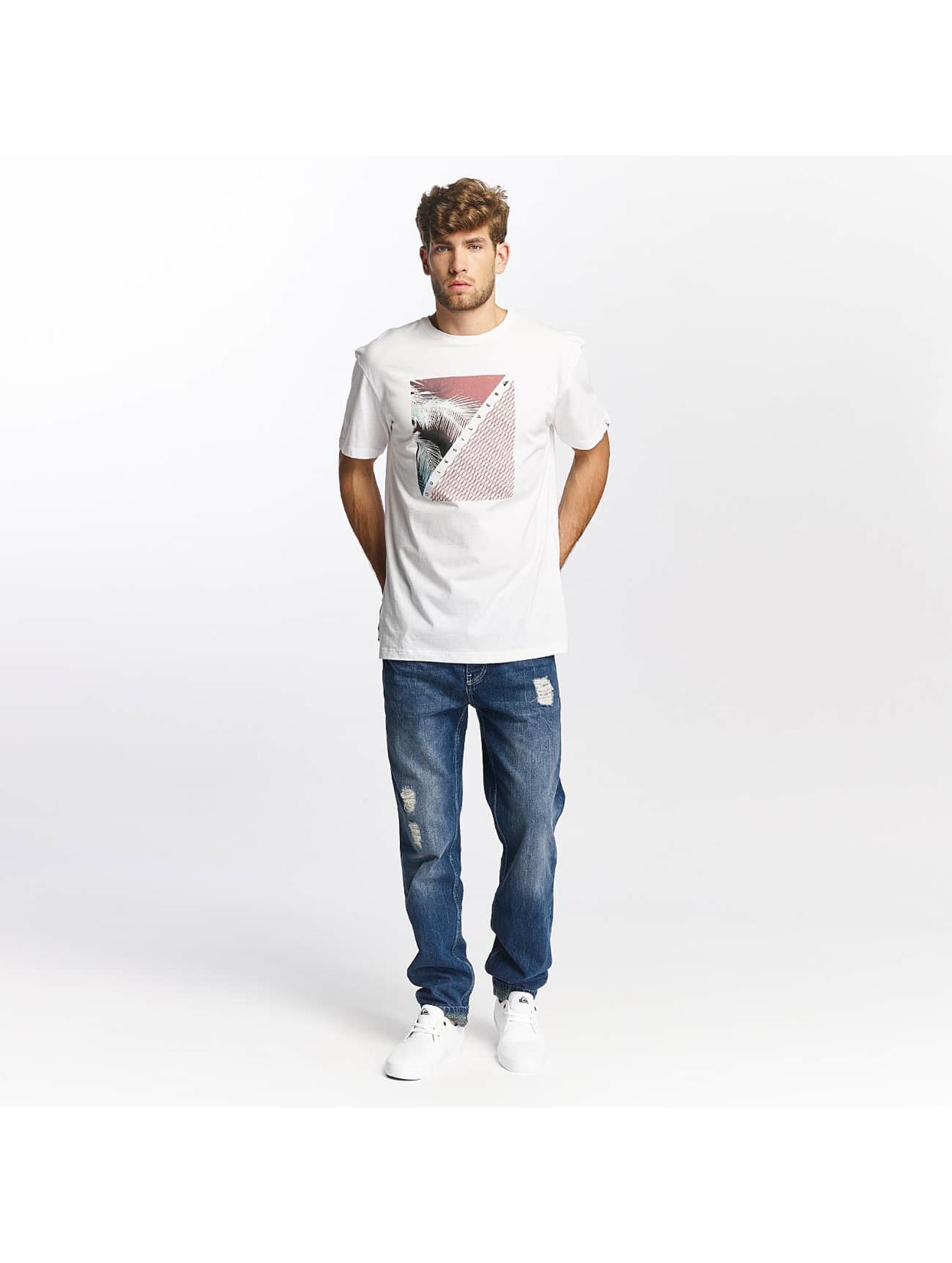 Quiksilver t-shirt Classic Coast Lines wit