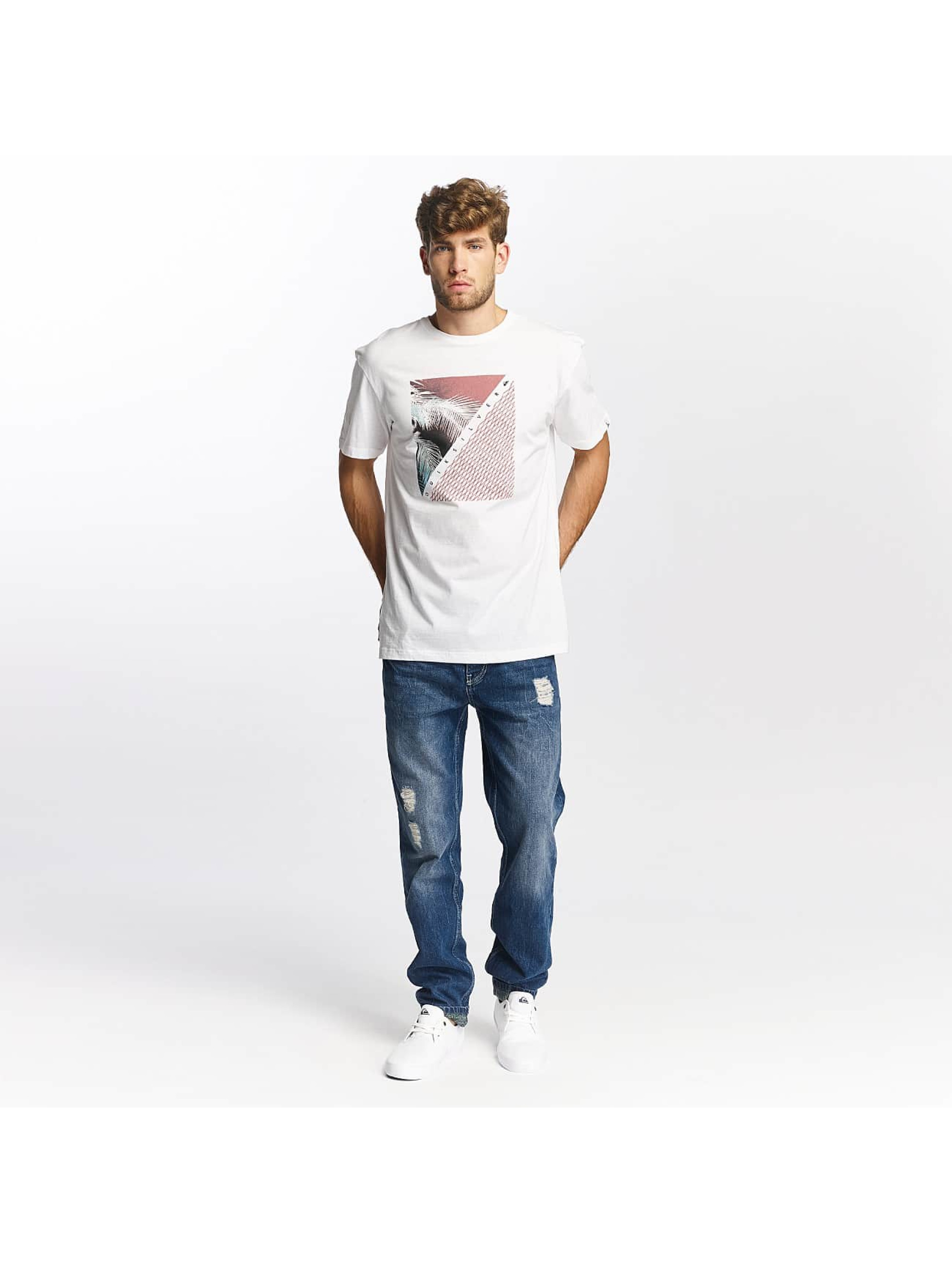 Quiksilver T-Shirty Classic Coast Lines bialy