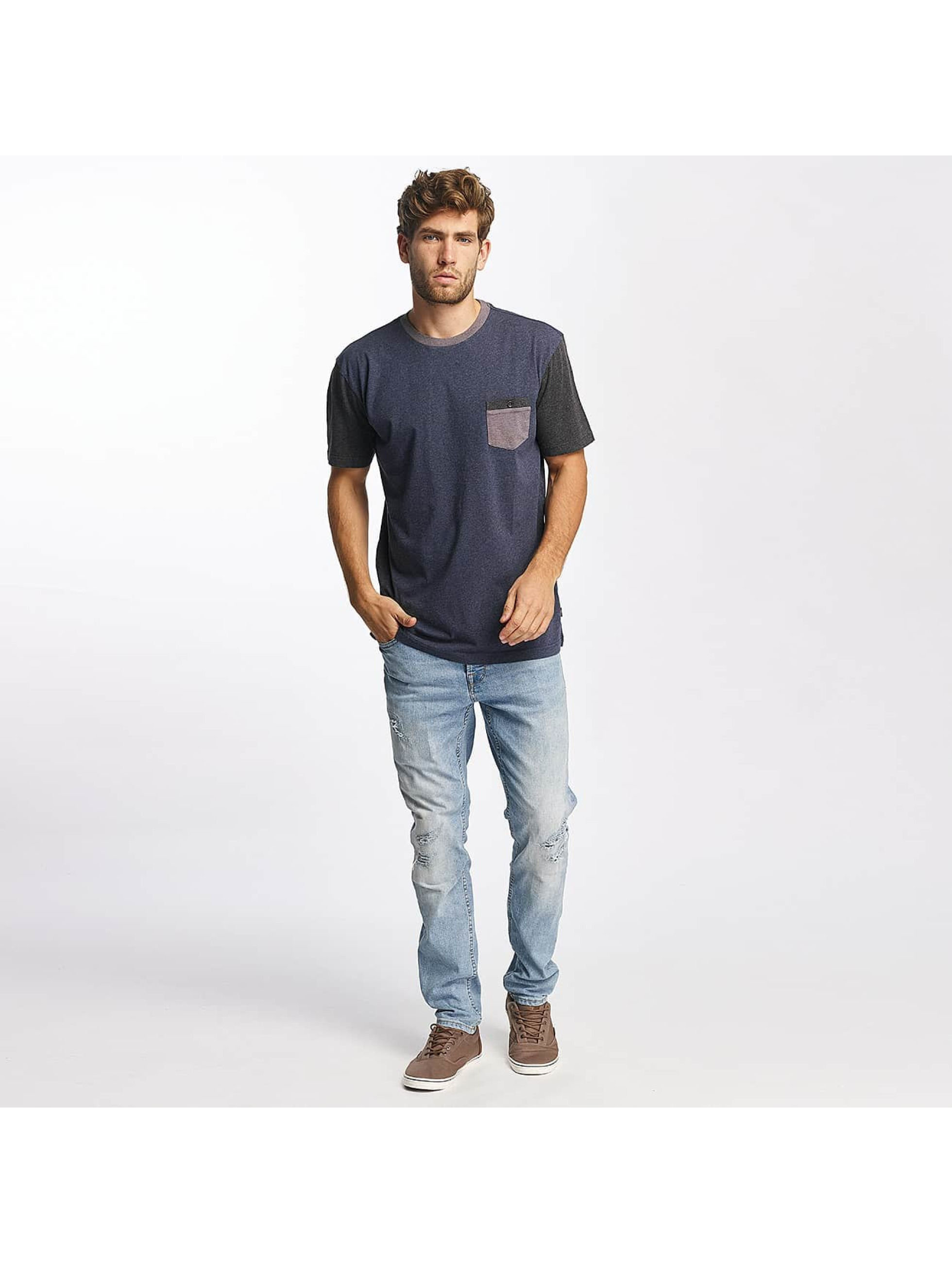 Quiksilver T-Shirty Baysic Pocket niebieski