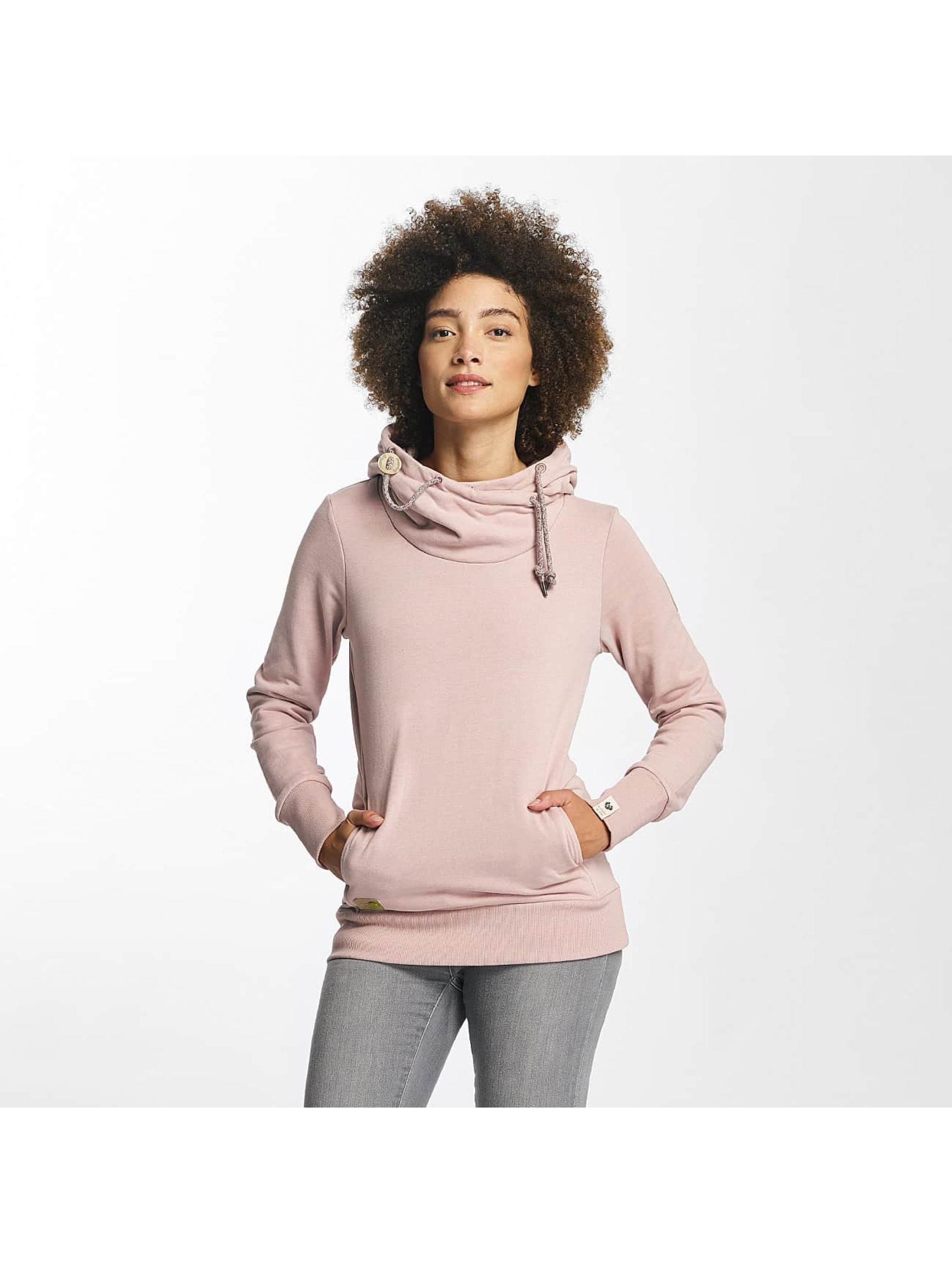 Ragwear Bluzy z kapturem Beat Organic pink