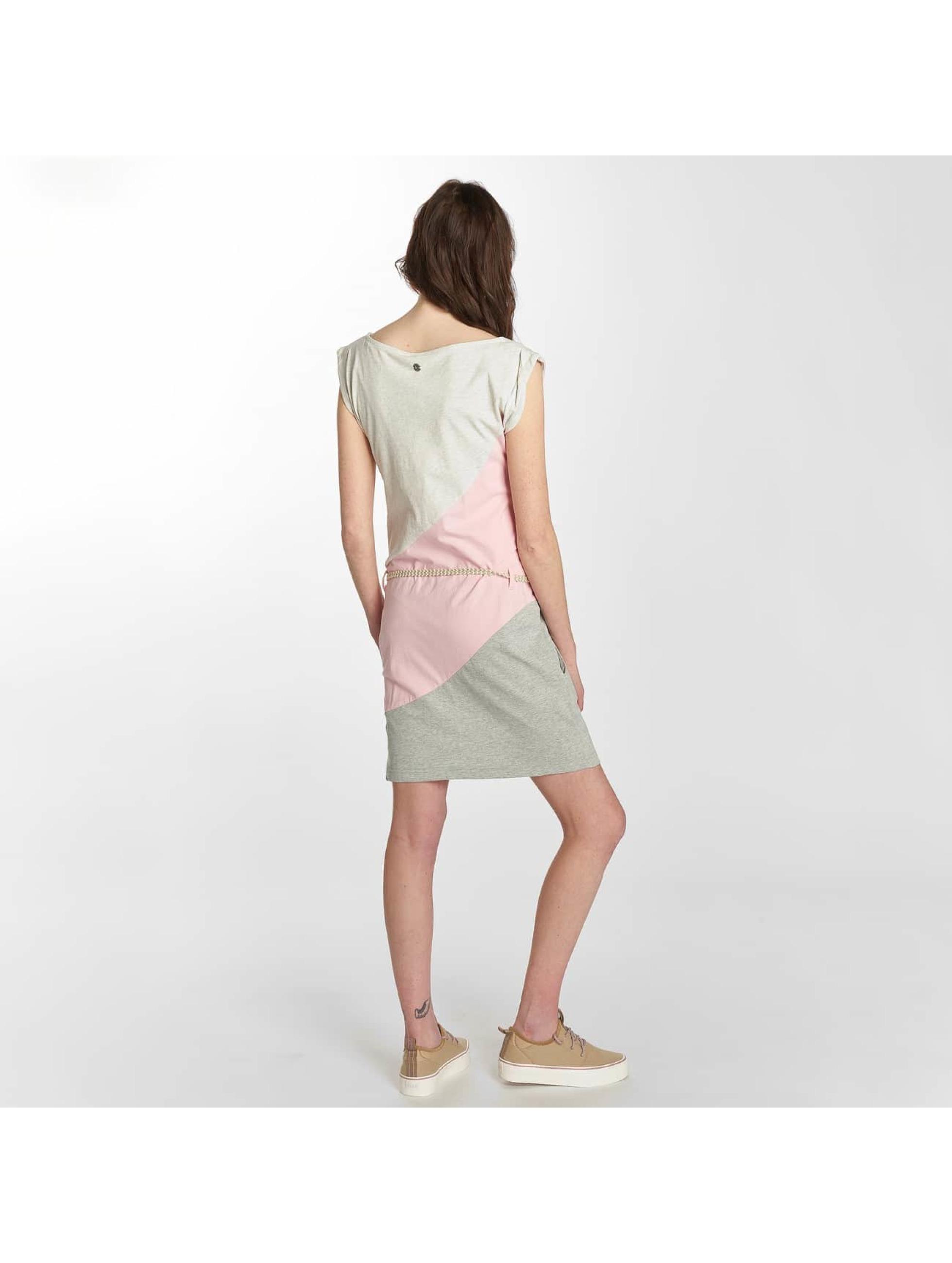 Ragwear Kleid Tag Block A Organic rosa