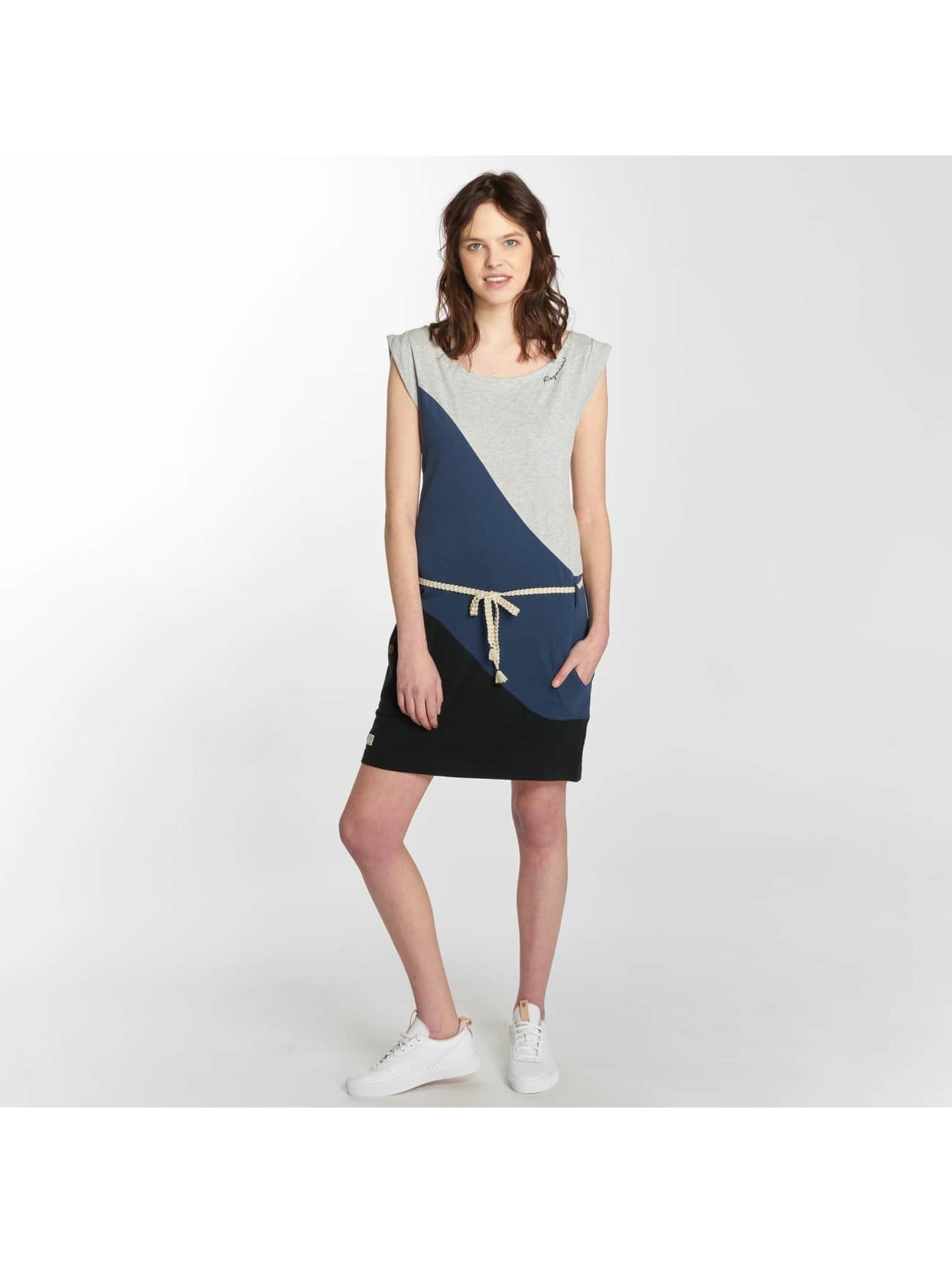 Ragwear Sukienki Tag Block A Organic niebieski