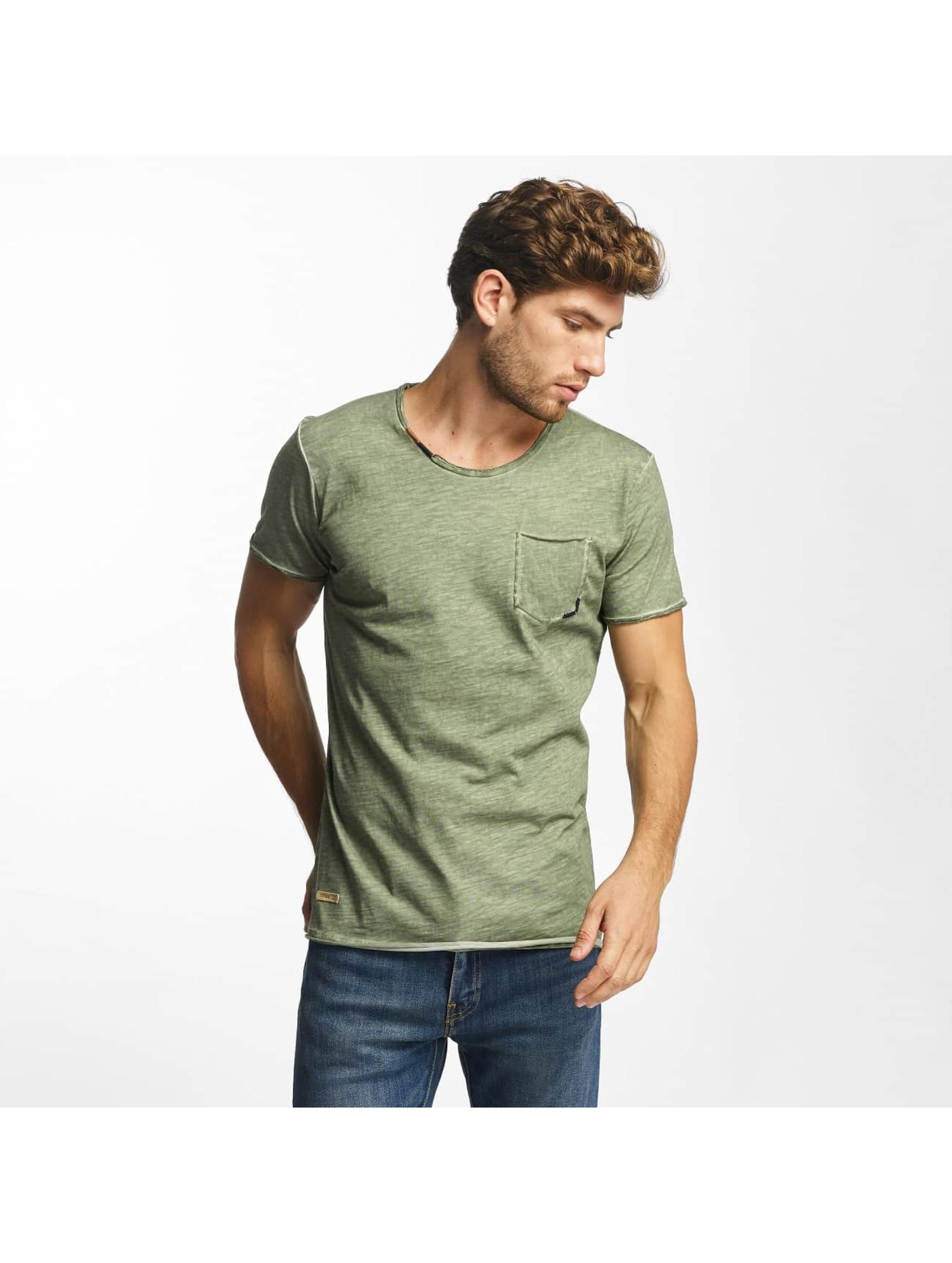 Red Bridge Camiseta Thread Detail caqui