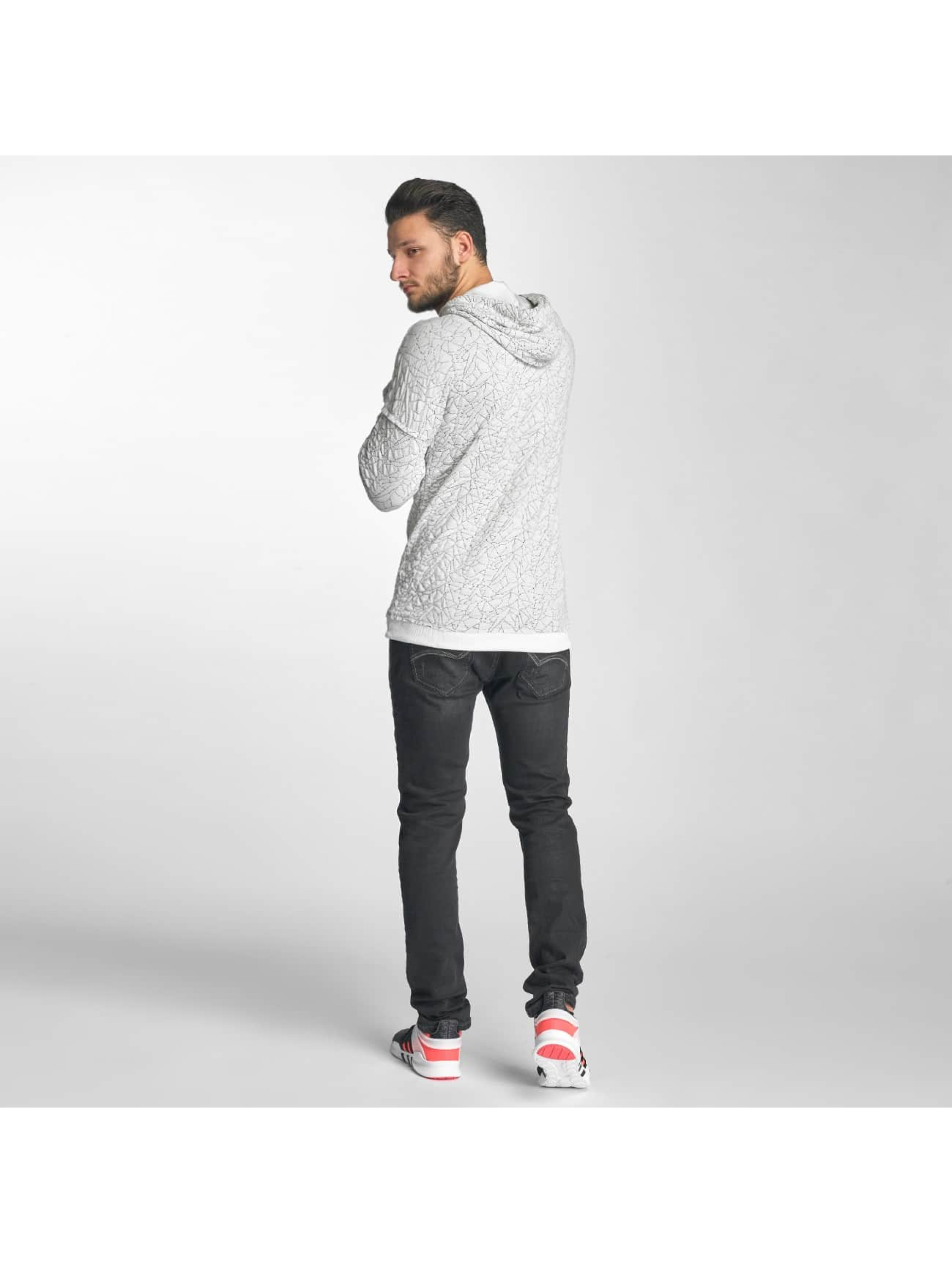 Red Bridge Hoodie Sharp Shards white