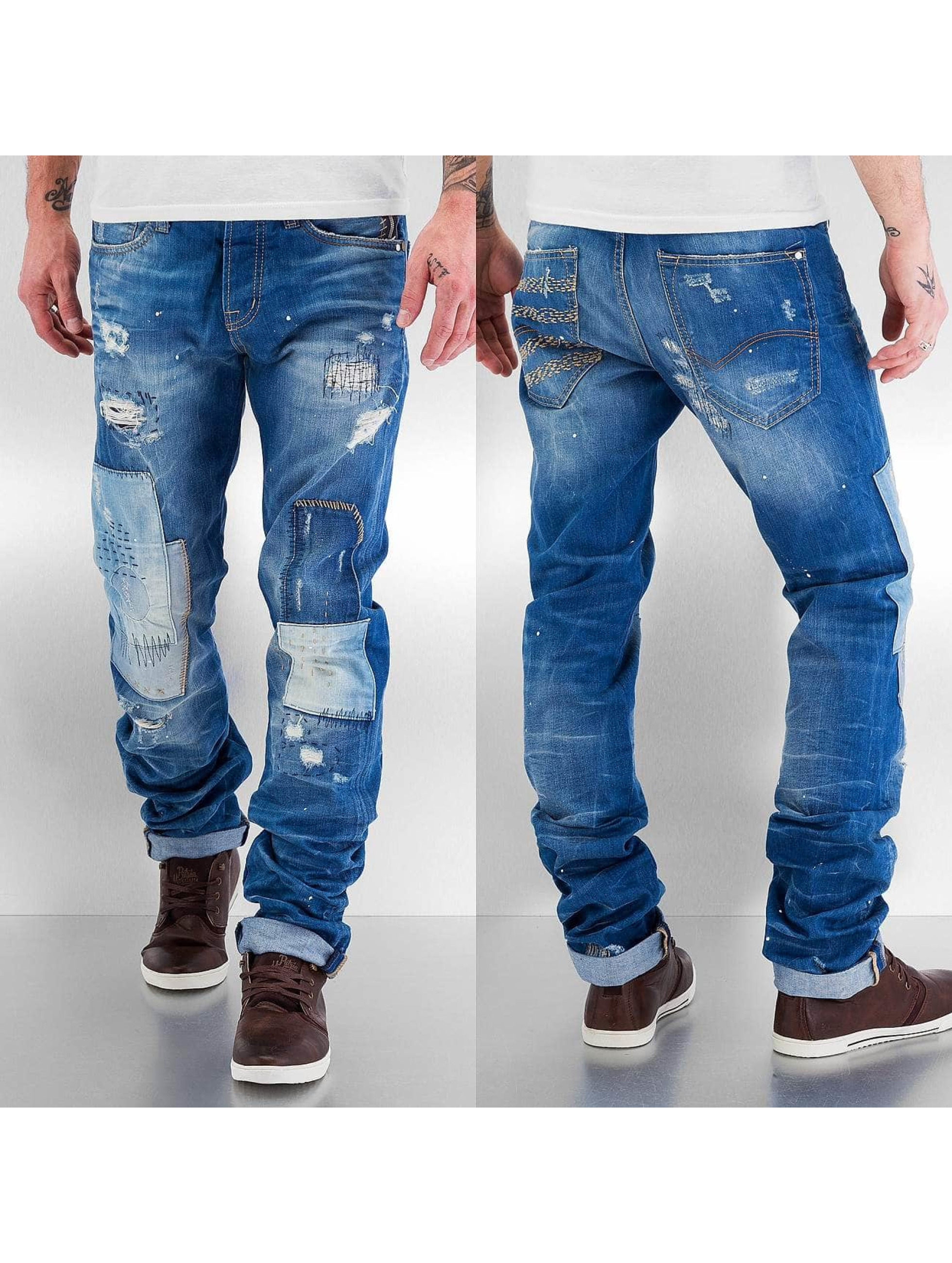 Red Bridge Jean coupe droite Patches bleu