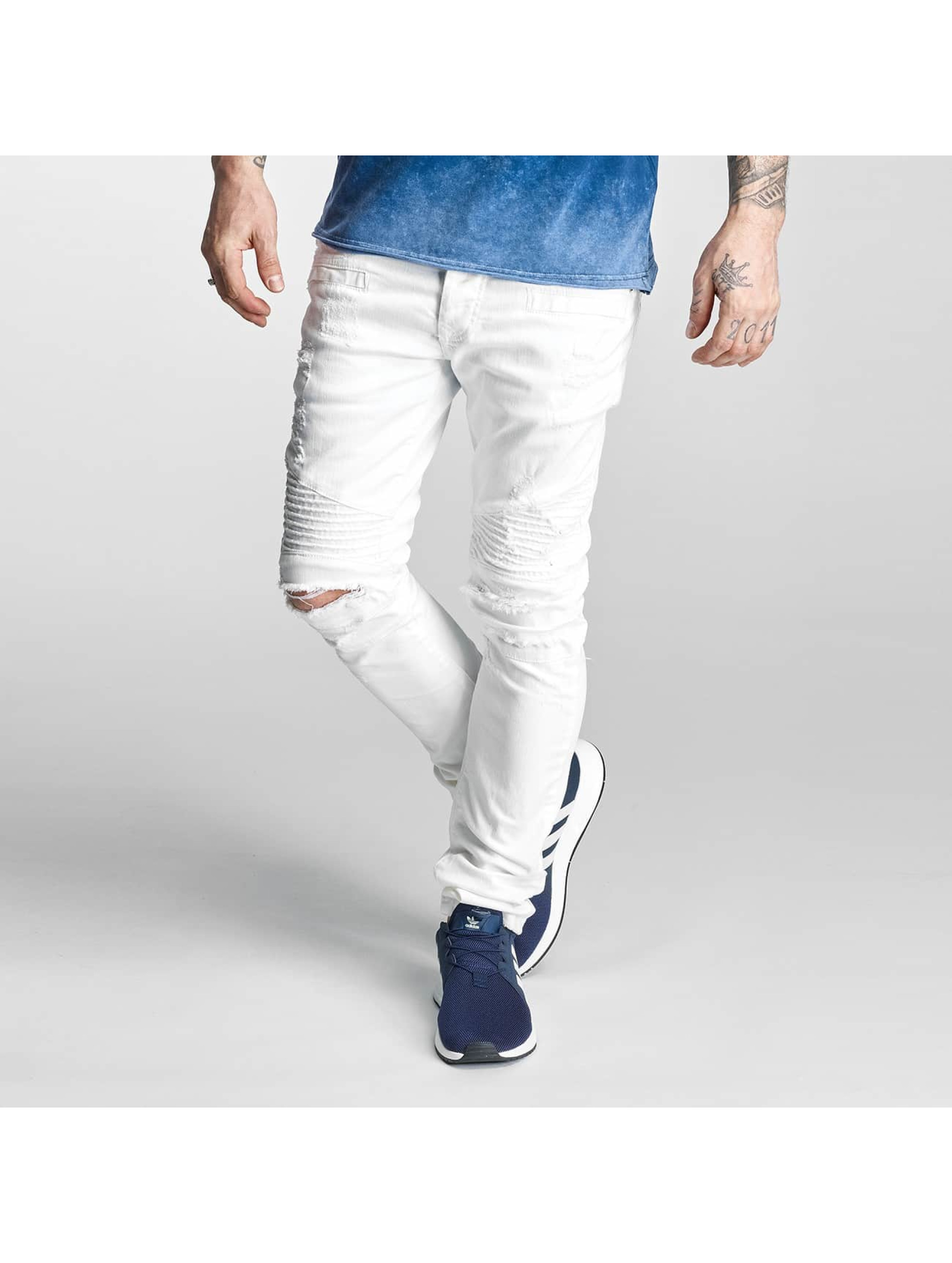 Red Bridge Jean skinny Ripped Biker blanc
