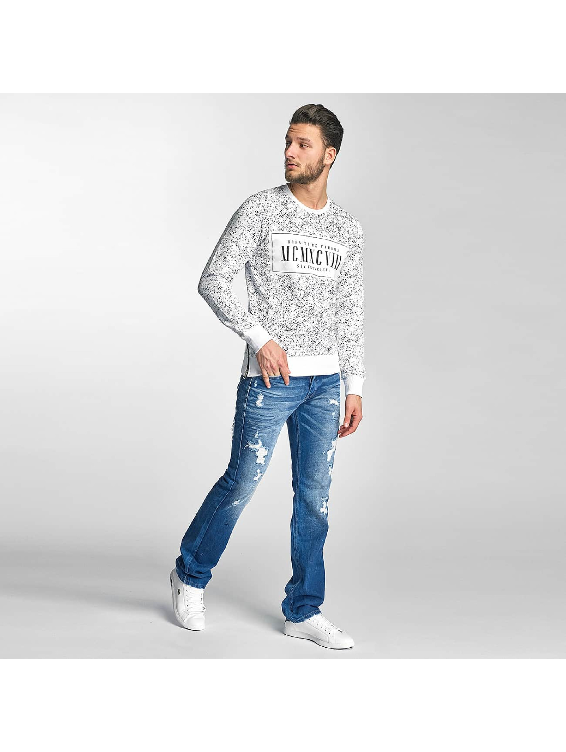 Red Bridge Jumper Born To Be Famous white