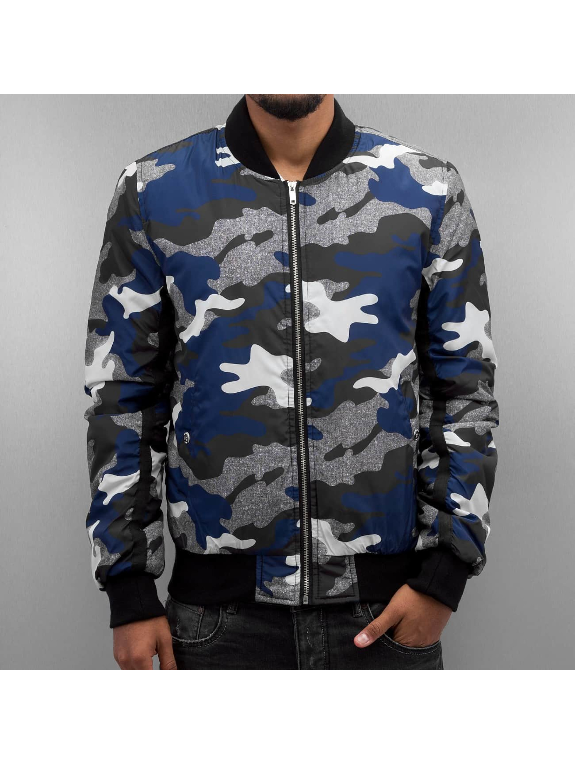 Red Bridge Lightweight Jacket Camo Bomber blue