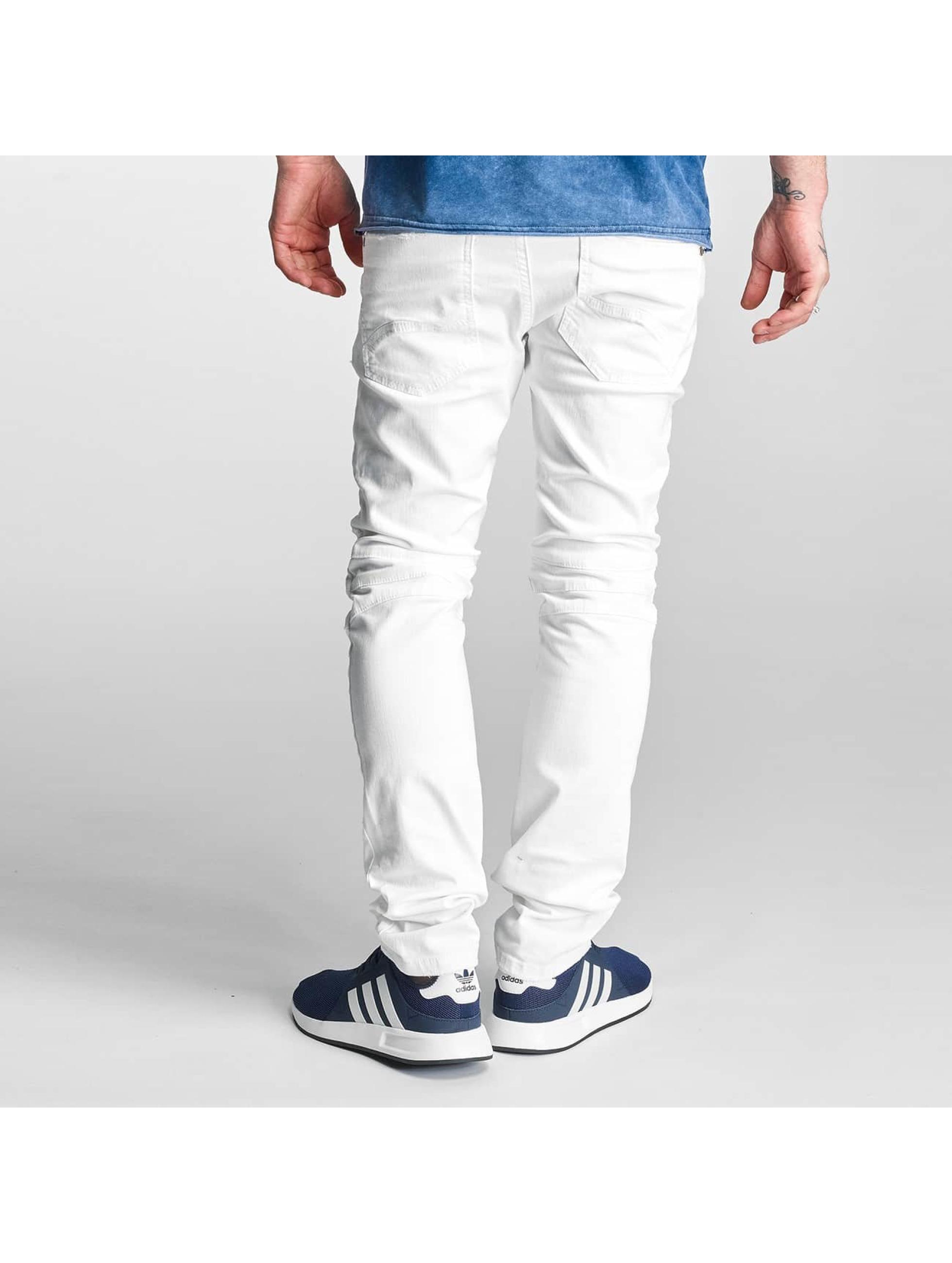 Red Bridge Skinny Jeans Ripped Biker white