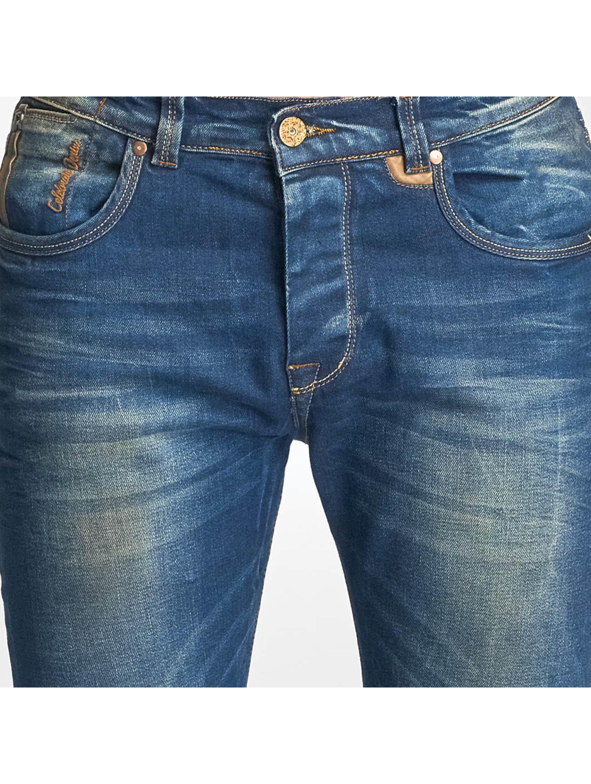 Red Bridge Slim Fit Jeans Washed blå