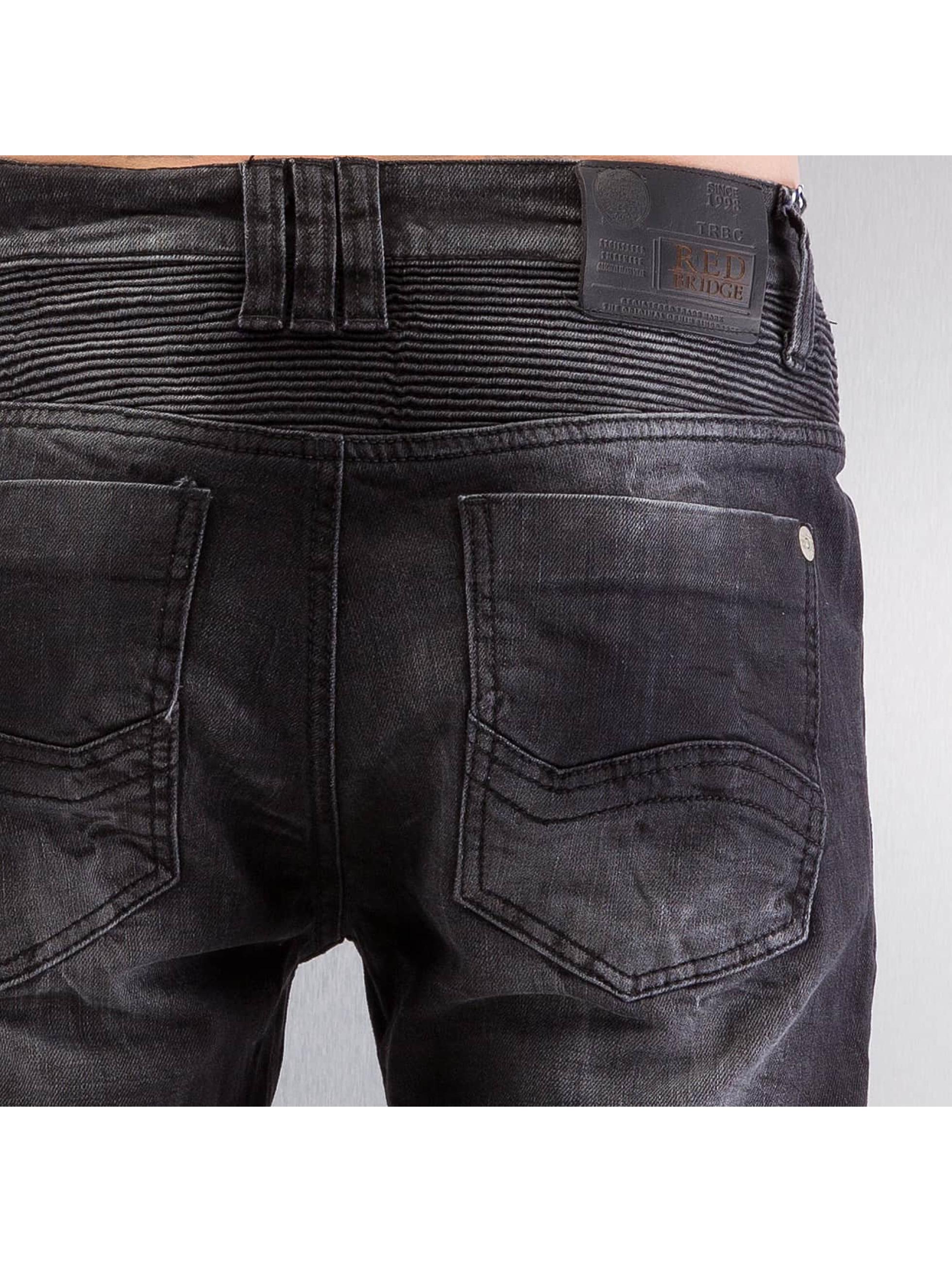 Red Bridge Slim Fit Jeans Quilted black