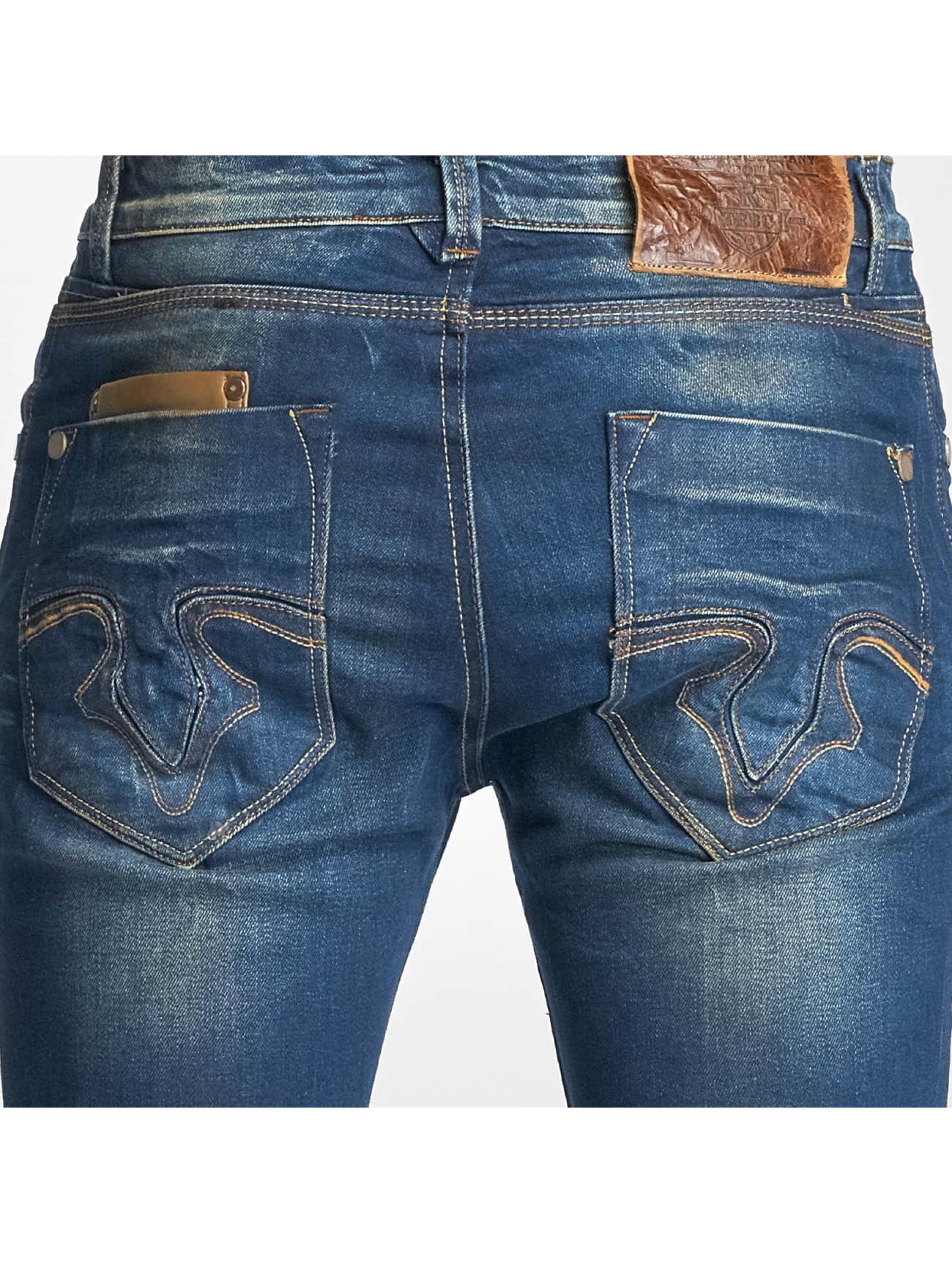 Red Bridge Slim Fit Jeans Washed blauw