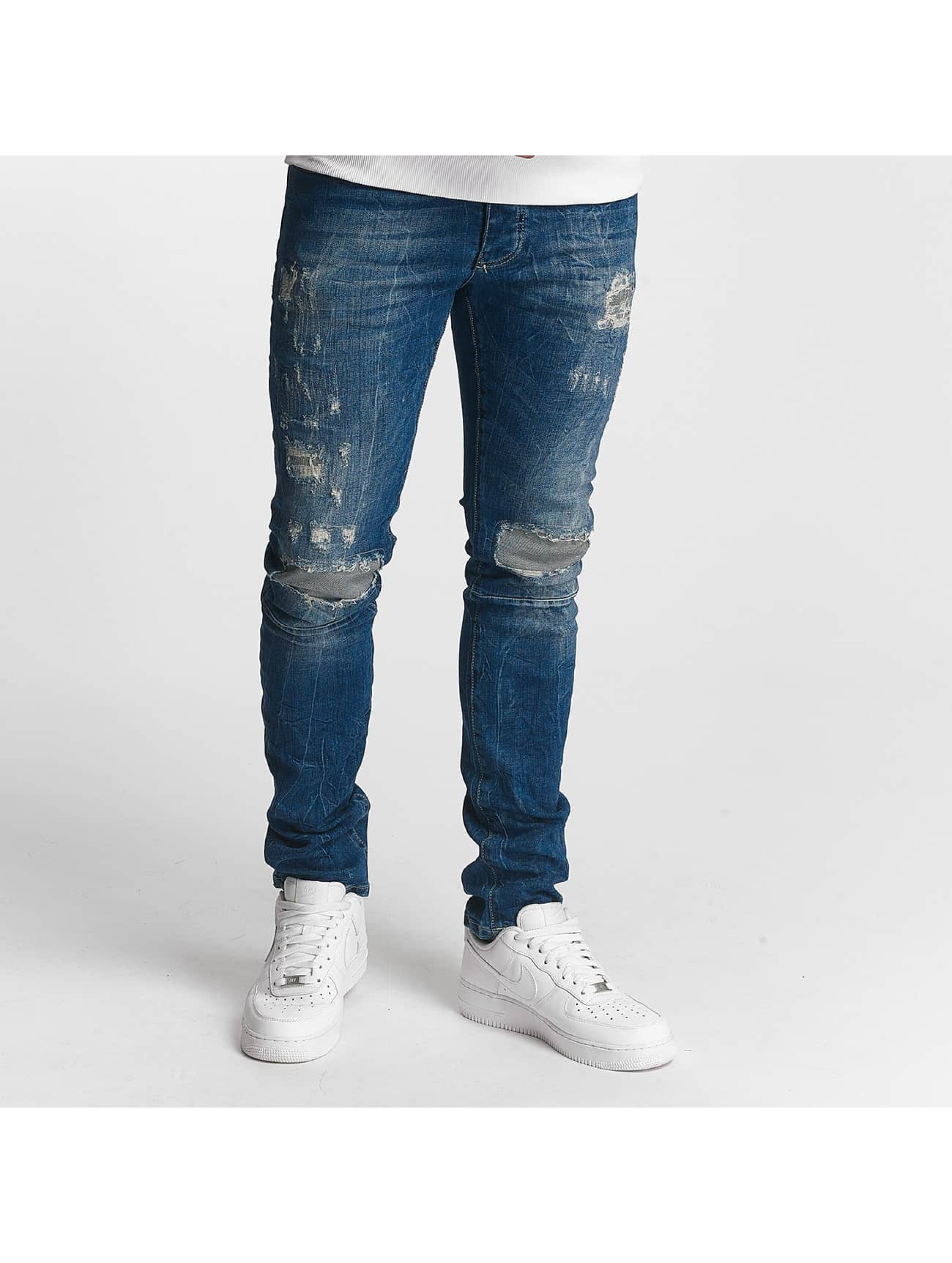 Red Bridge Slim Fit Jeans Inside Out Destroyed blauw