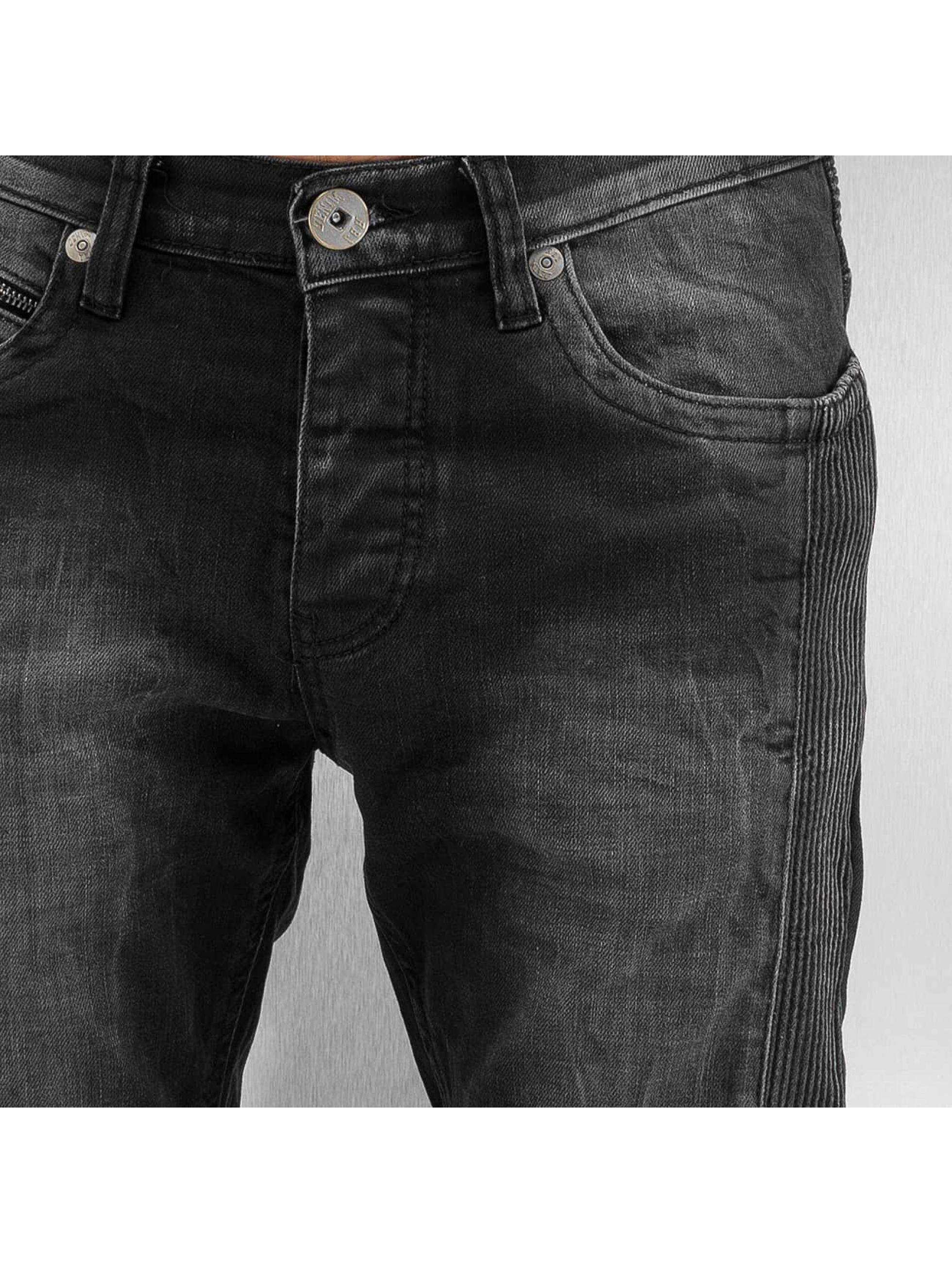 Red Bridge Slim Fit Jeans Quilted nero