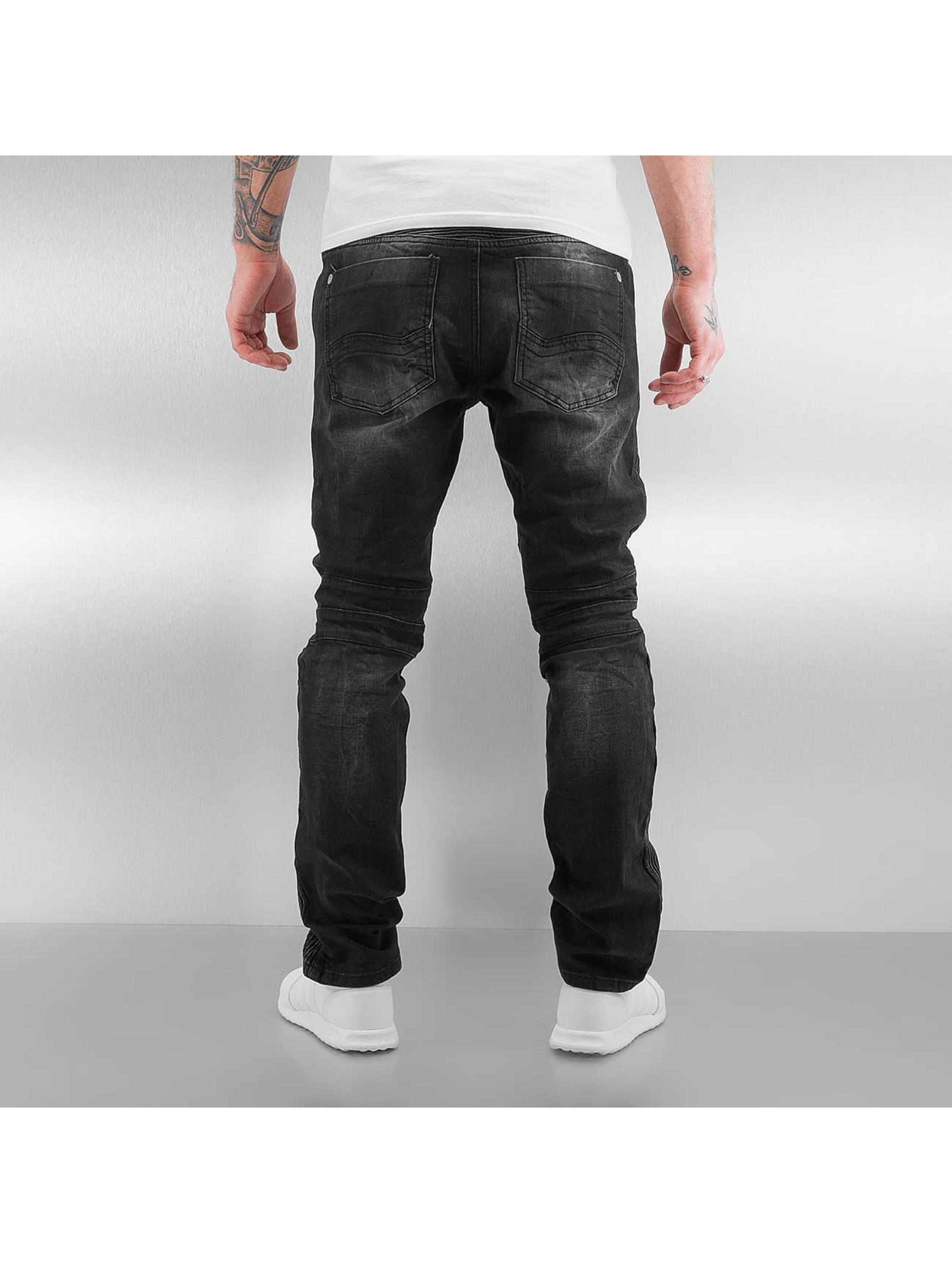 Red Bridge Slim Fit Jeans Quilted schwarz
