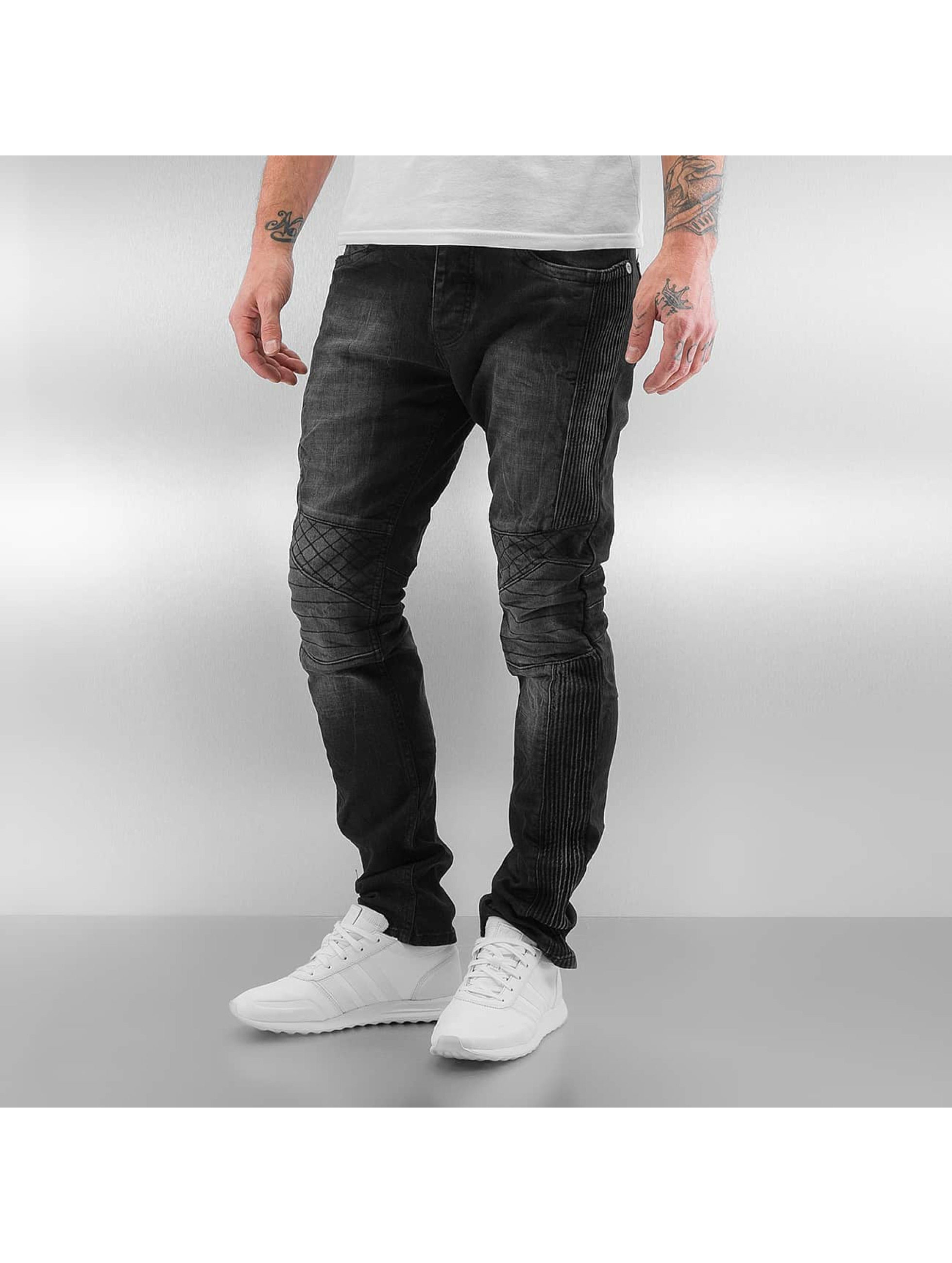 Red Bridge Slim Fit Jeans Quilted zwart