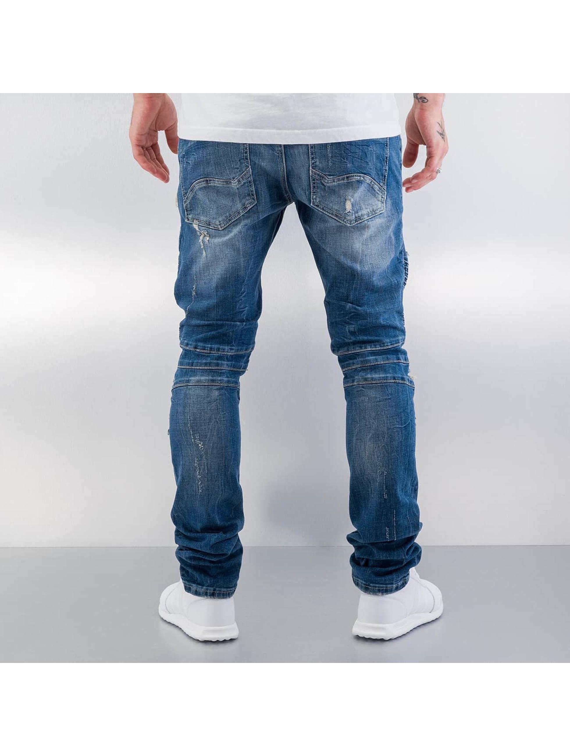Red Bridge Straight Fit Jeans Destroyed blå