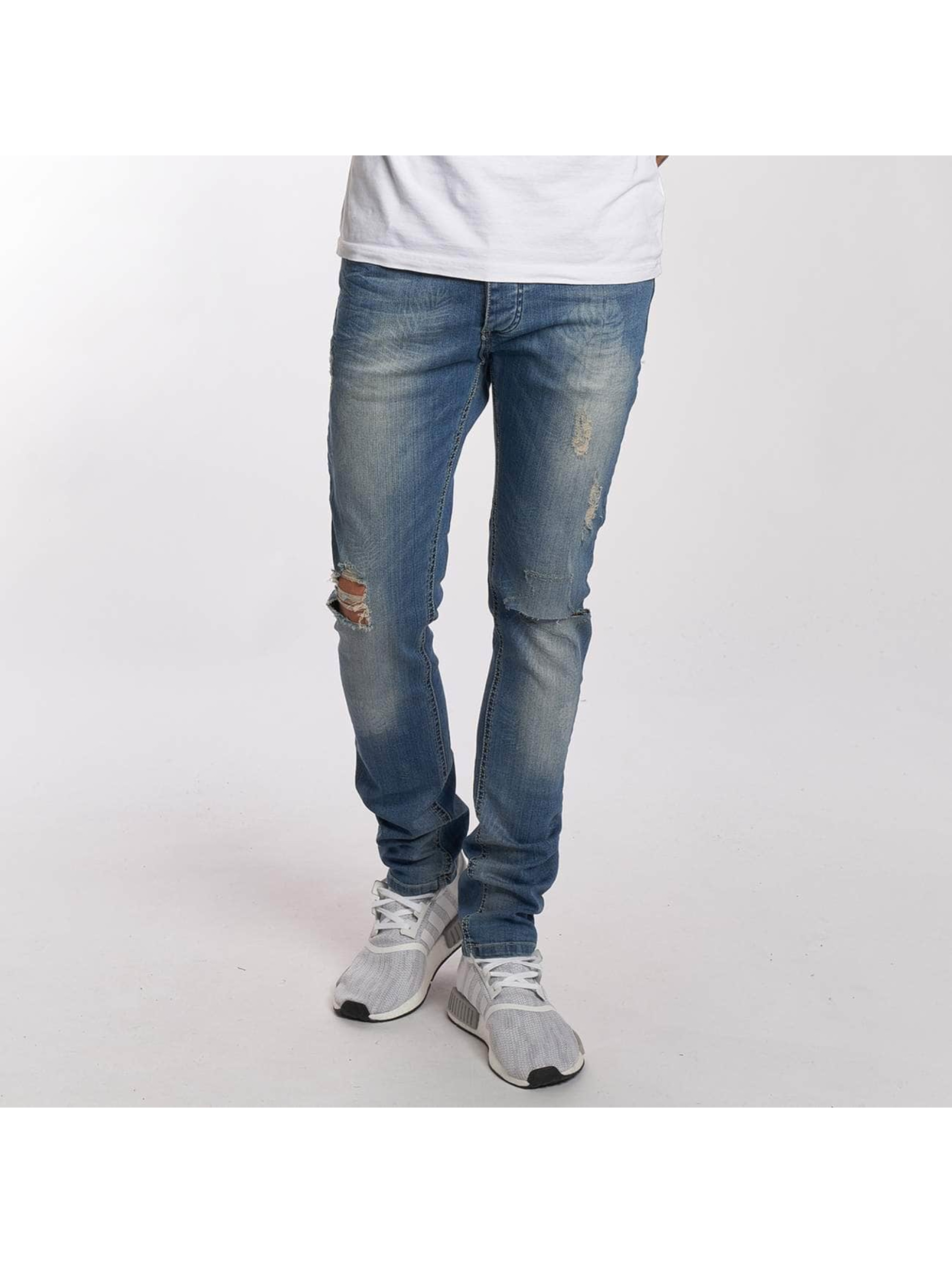 Straight Fit Jeans Flower in blau