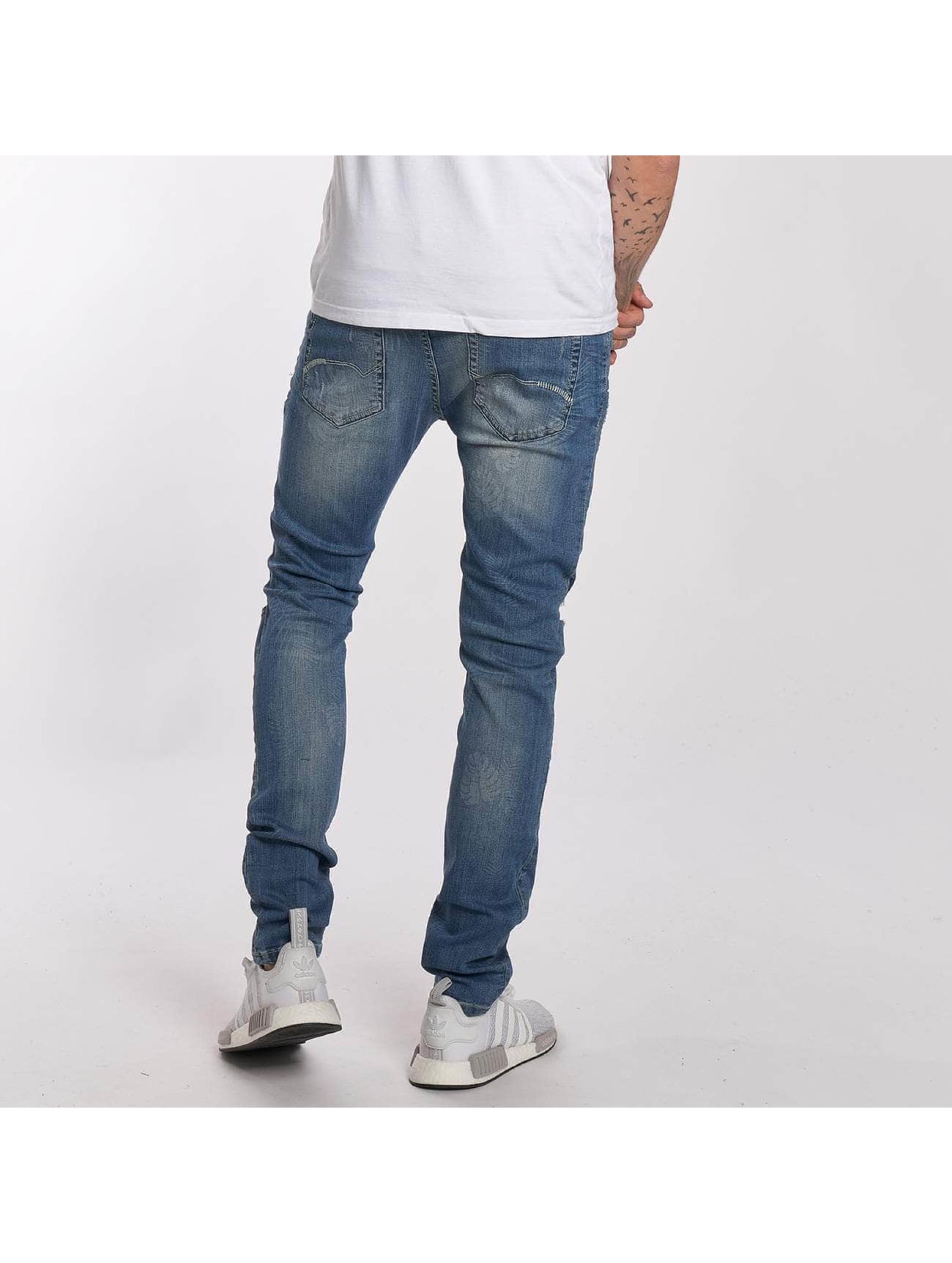 Red Bridge Straight Fit Jeans Flower blau