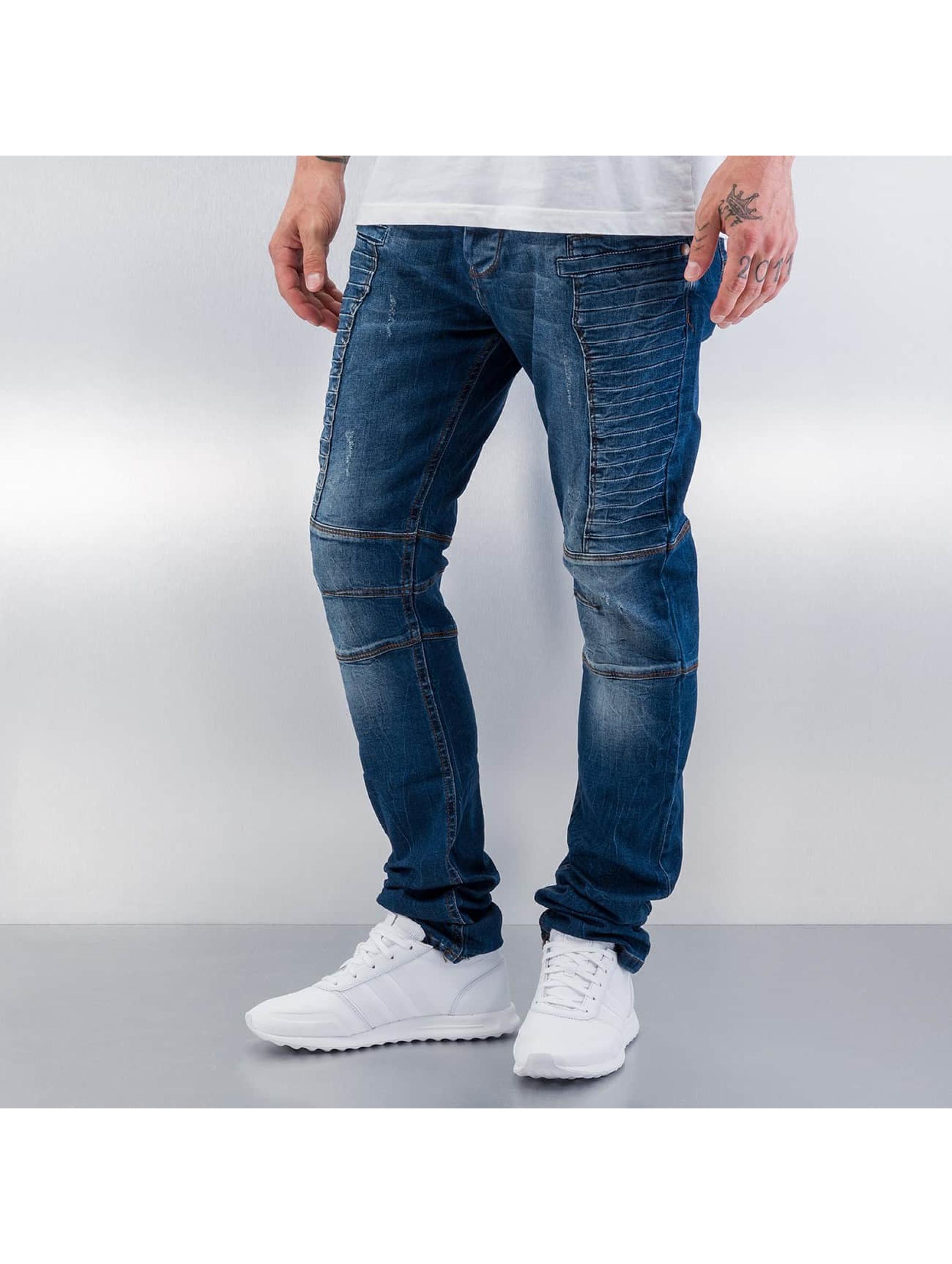 Red Bridge Straight Fit Jeans Quited blau