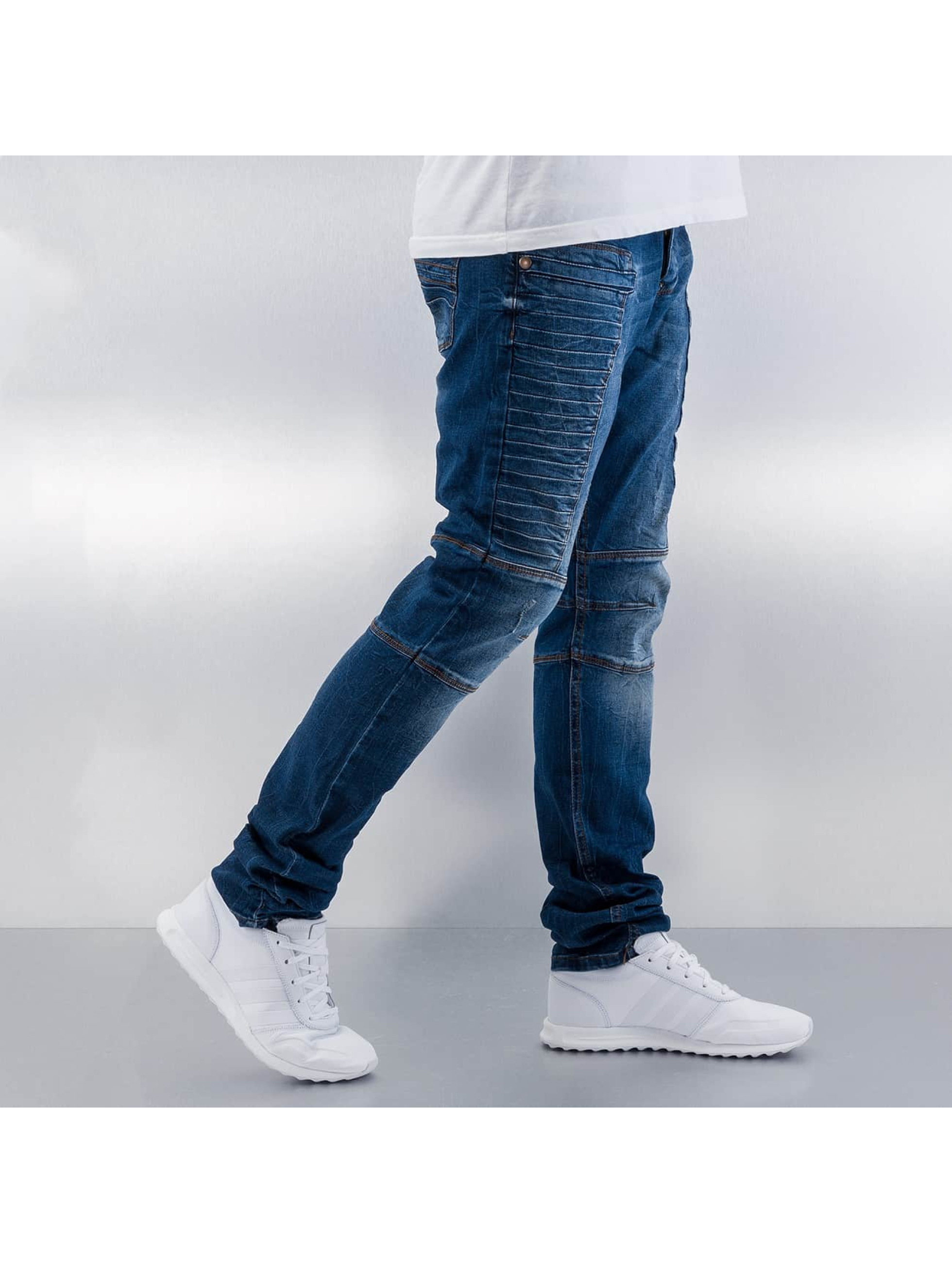 Red Bridge Straight Fit Jeans Quited blau