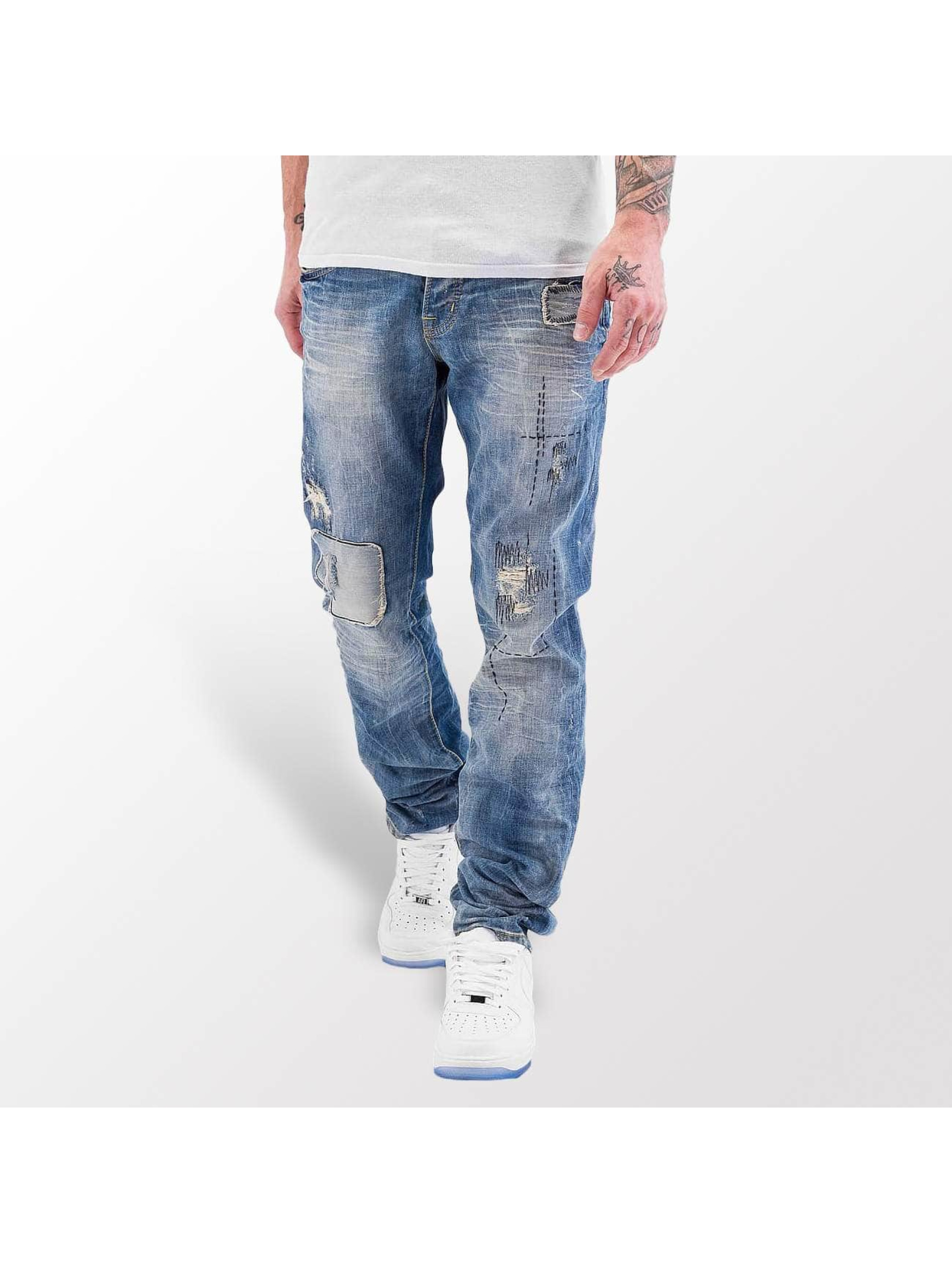 Red Bridge Straight fit jeans Stitched blauw