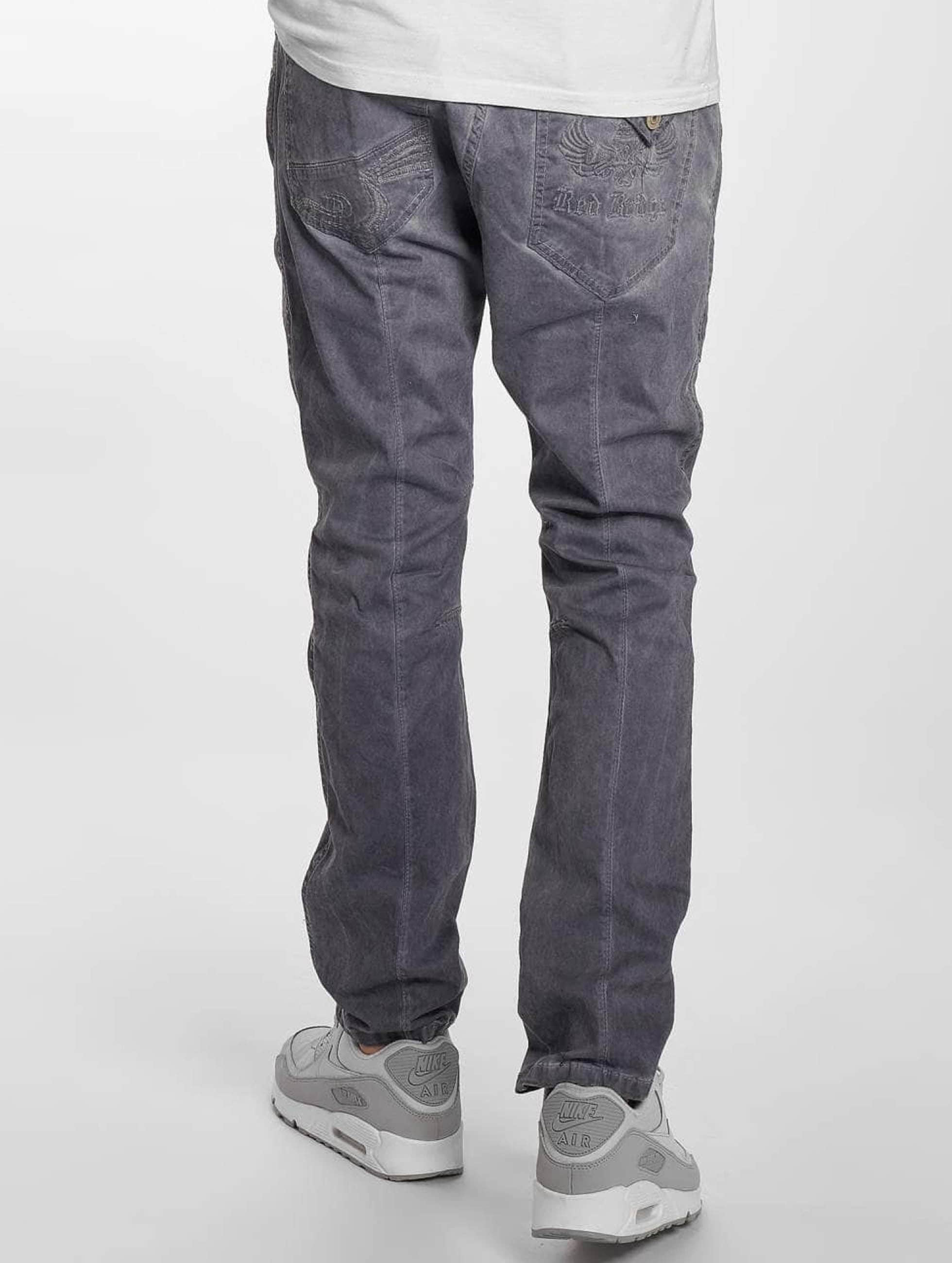 Red Bridge Straight Fit Jeans Emblem grau