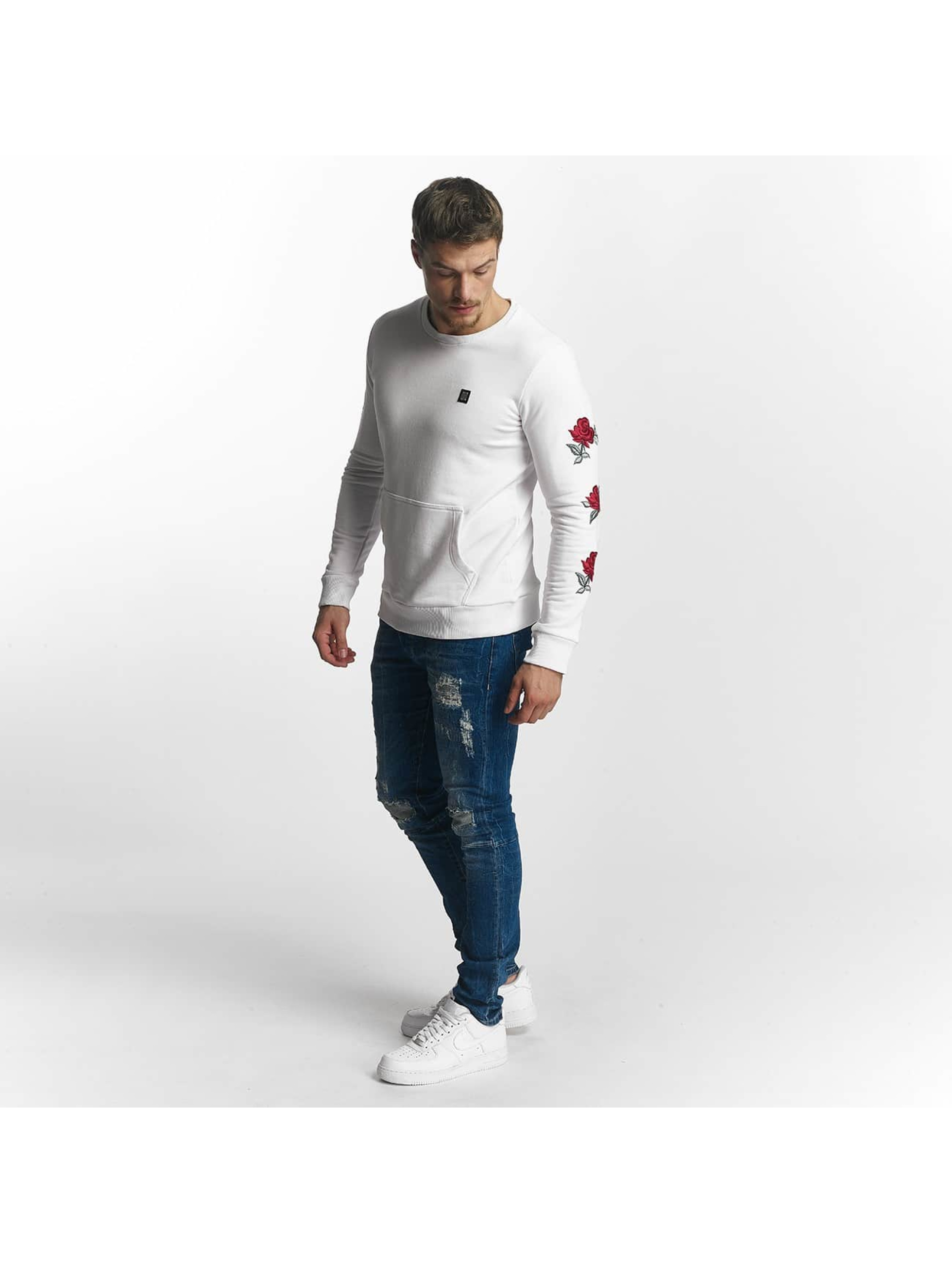 Red Bridge Sweat & Pull Red Rose Flower blanc