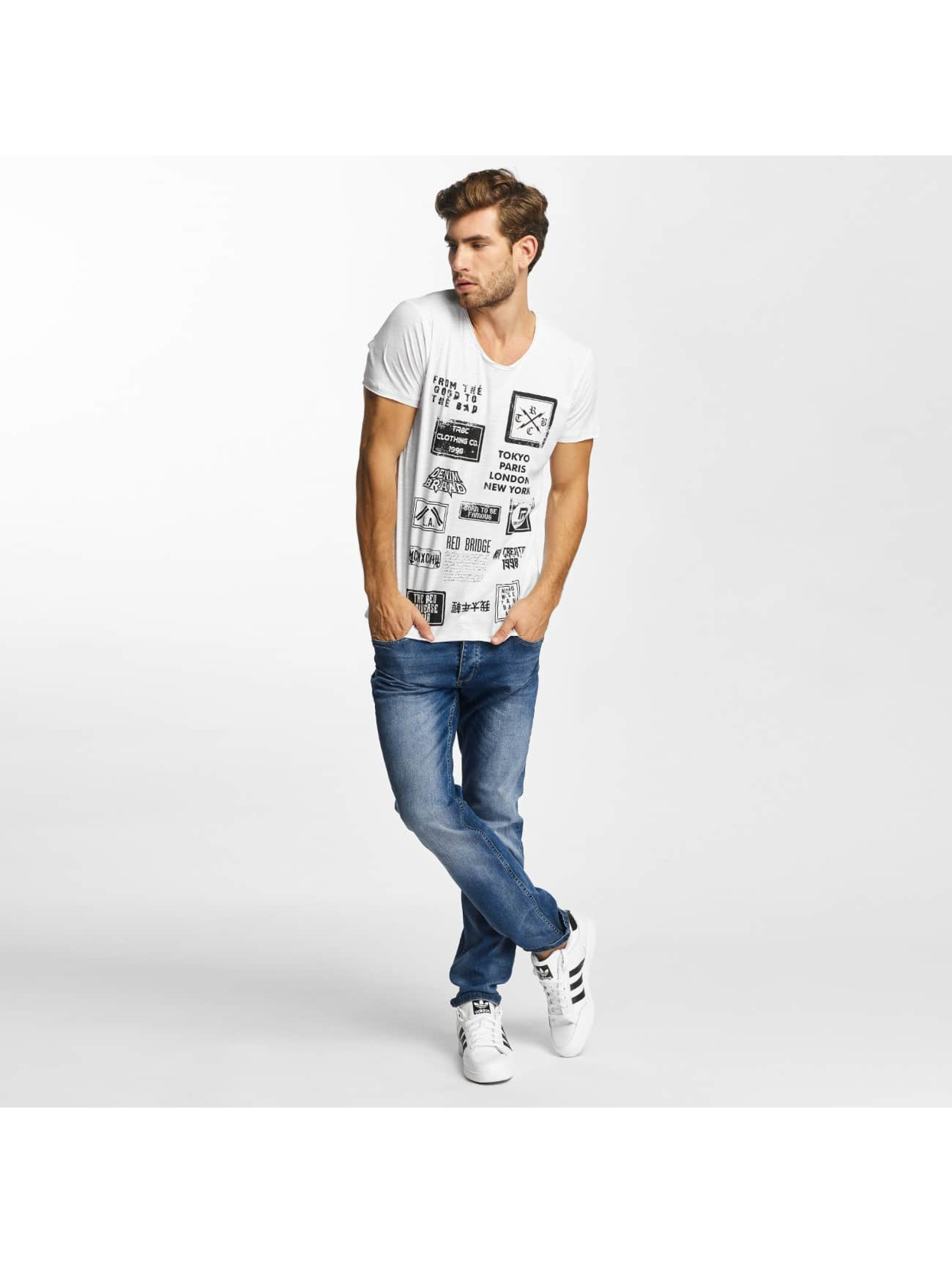 Red Bridge T-shirt From Good To Bad bianco