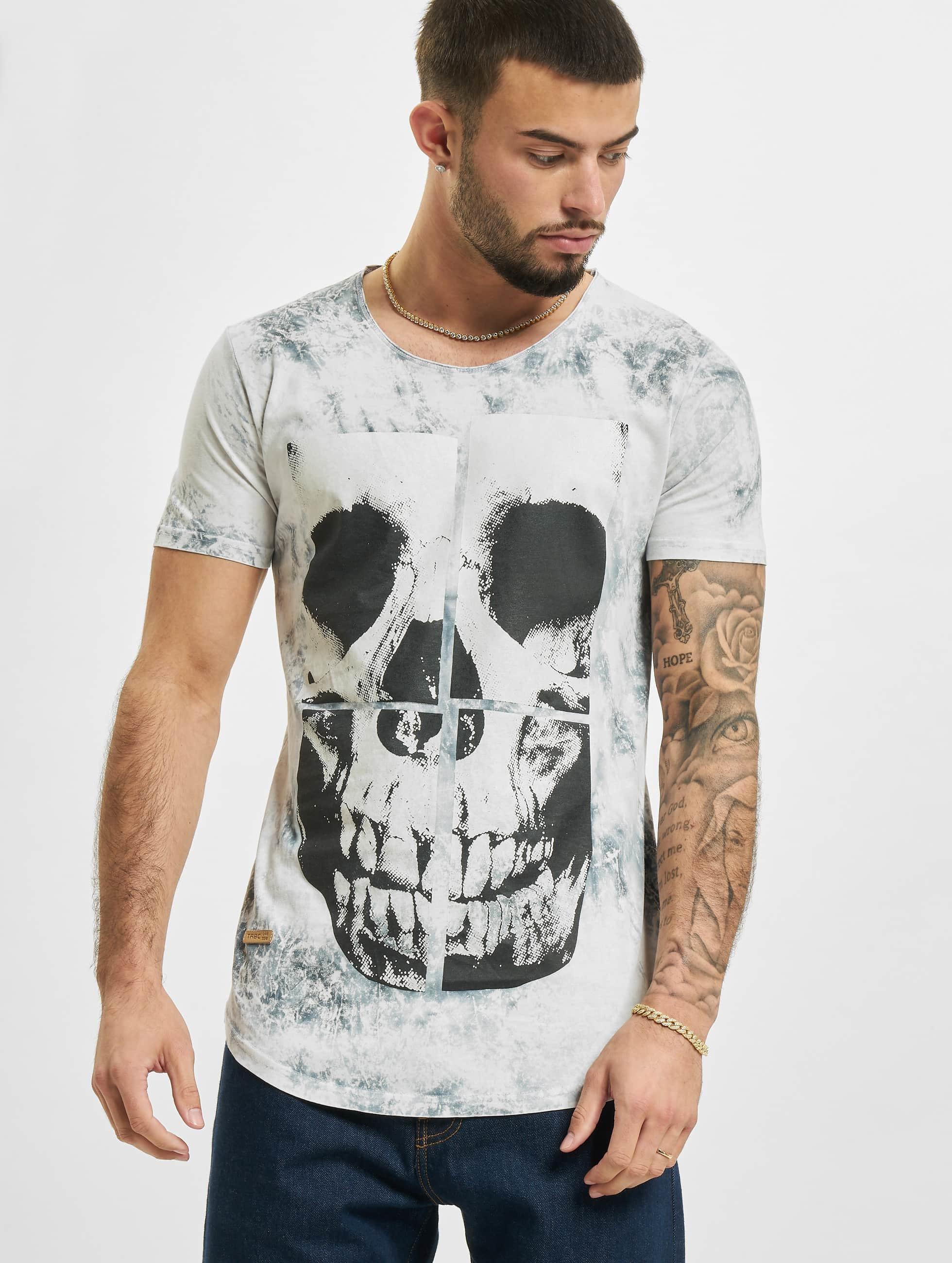 Red Bridge T-Shirt Skull grau