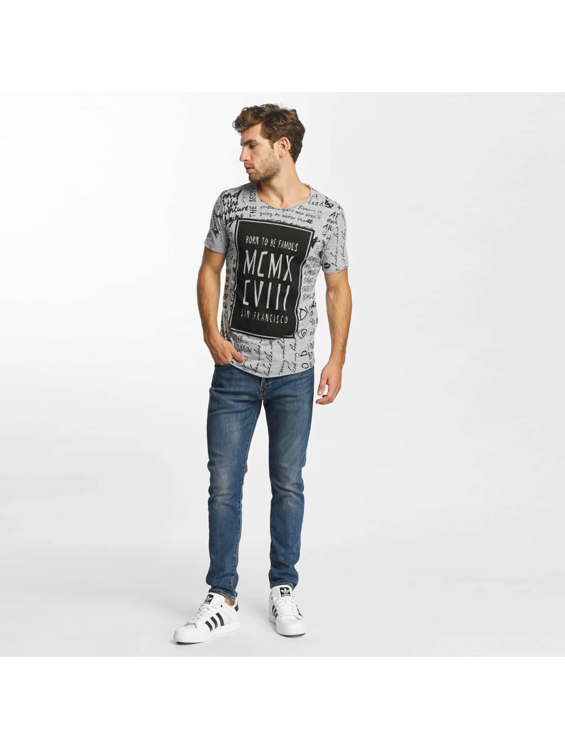 Red Bridge T-shirt Born To Be Famous grigio