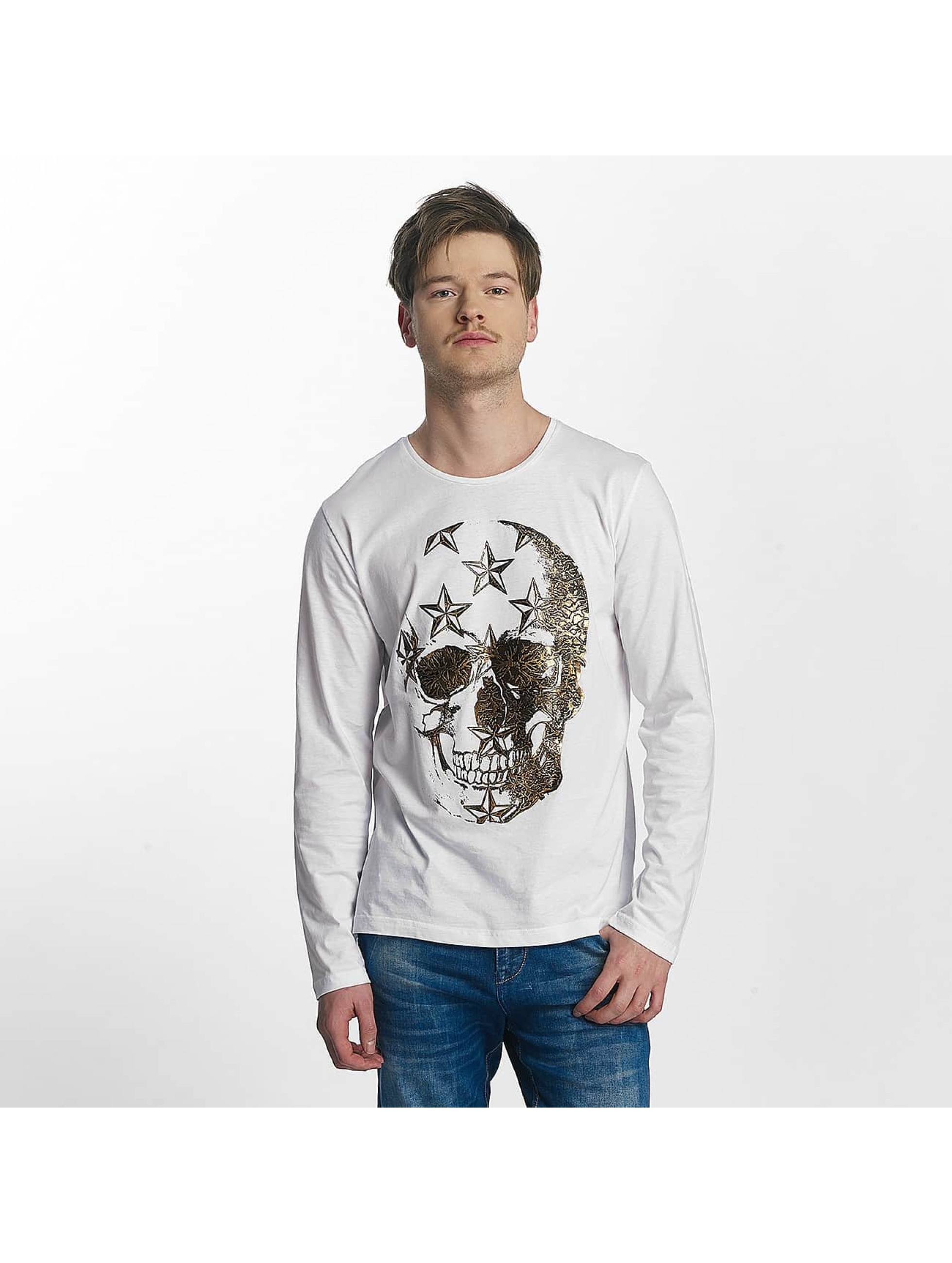 Red Bridge T-Shirt manches longues Big Skull blanc