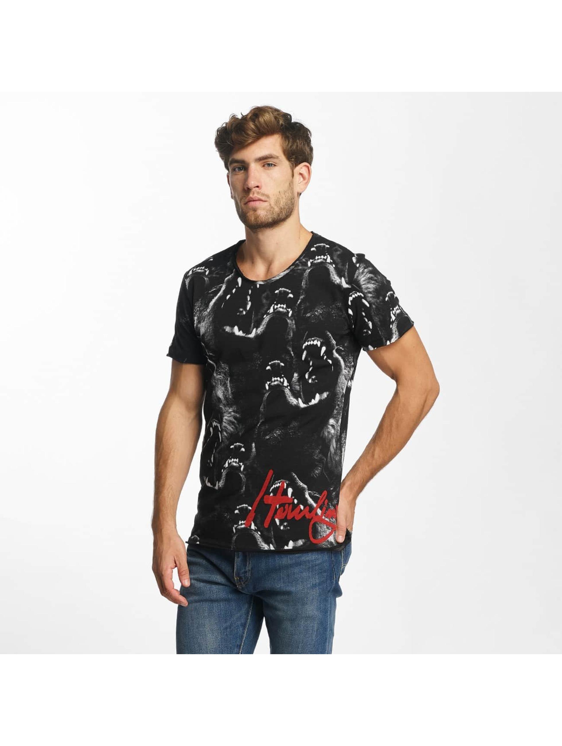 Red Bridge T-Shirt Howling Wolf noir