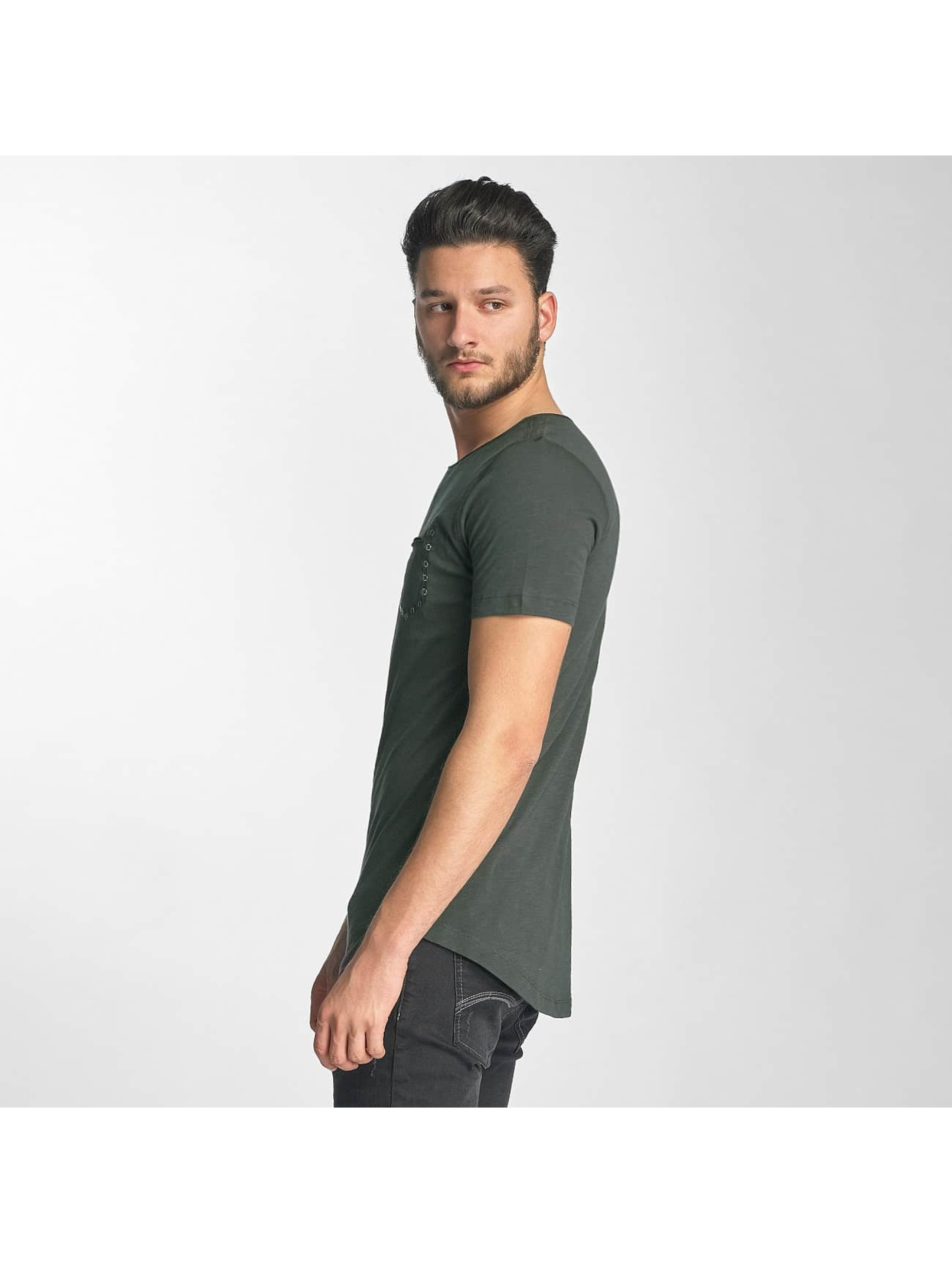 Red Bridge T-Shirt Leather Rivets olive