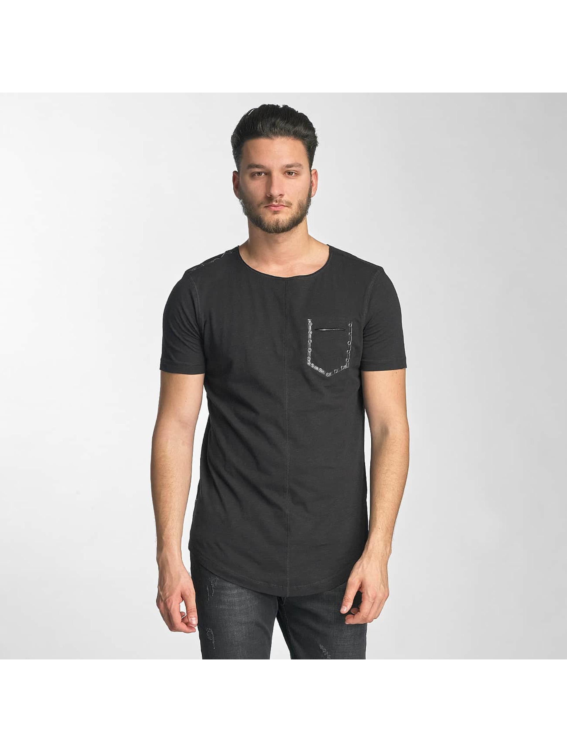 Red Bridge T-Shirt Leather Rivets schwarz