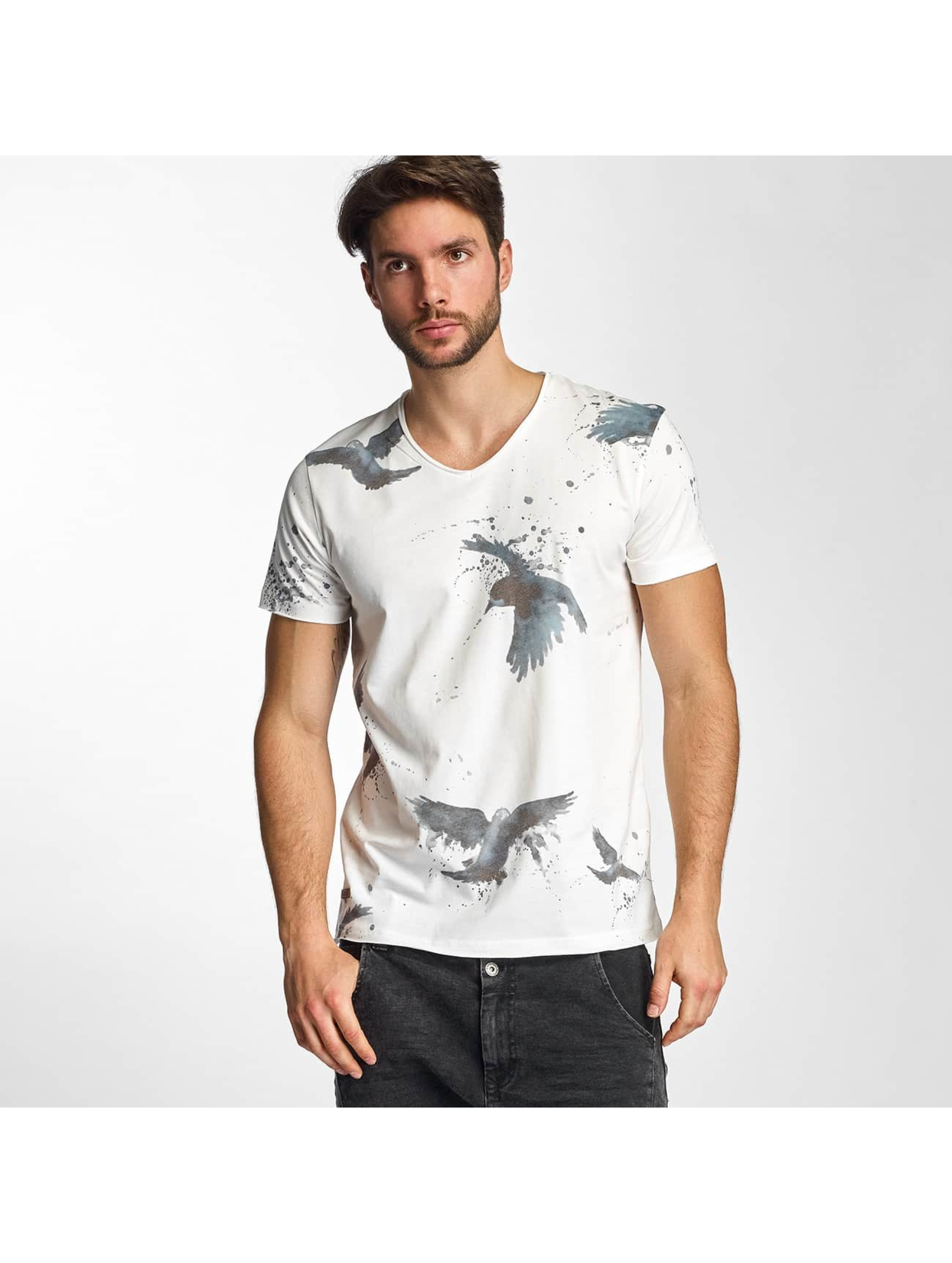 Red Bridge T-Shirt Birds white