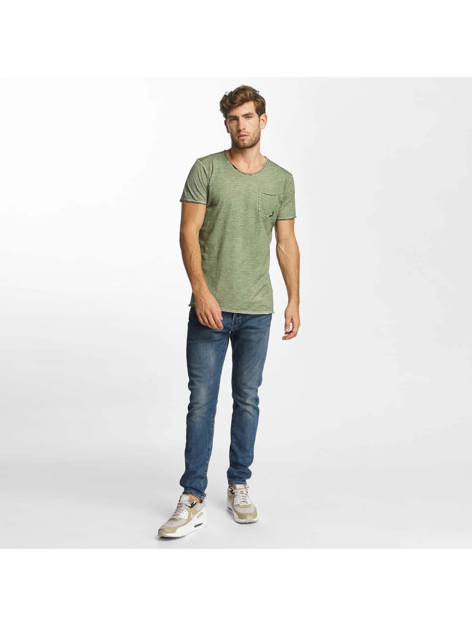 Red Bridge T-Shirty Thread Detail khaki