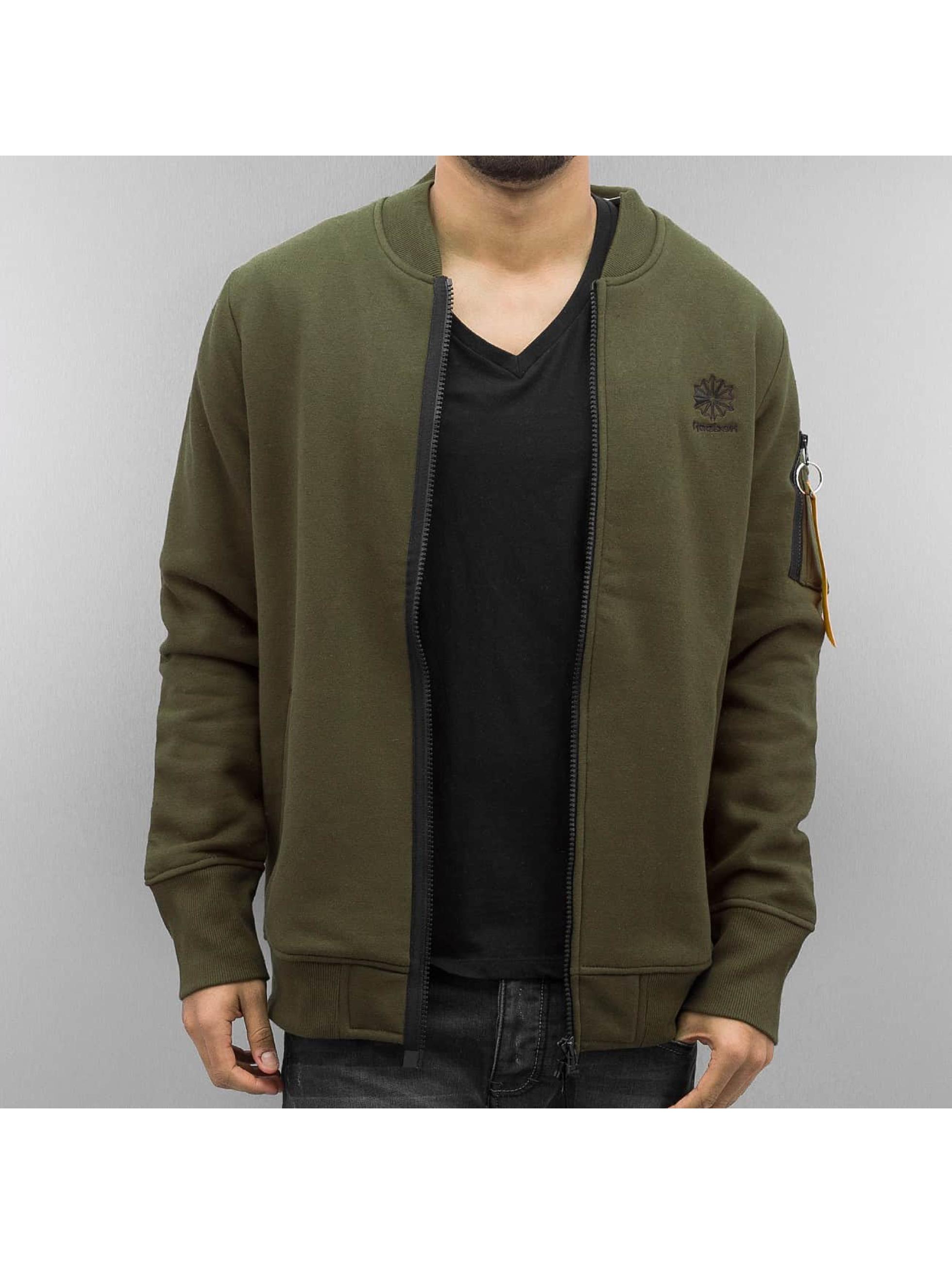 reebok fleece vert homme bomber reebok acheter pas cher manteau veste 325182. Black Bedroom Furniture Sets. Home Design Ideas