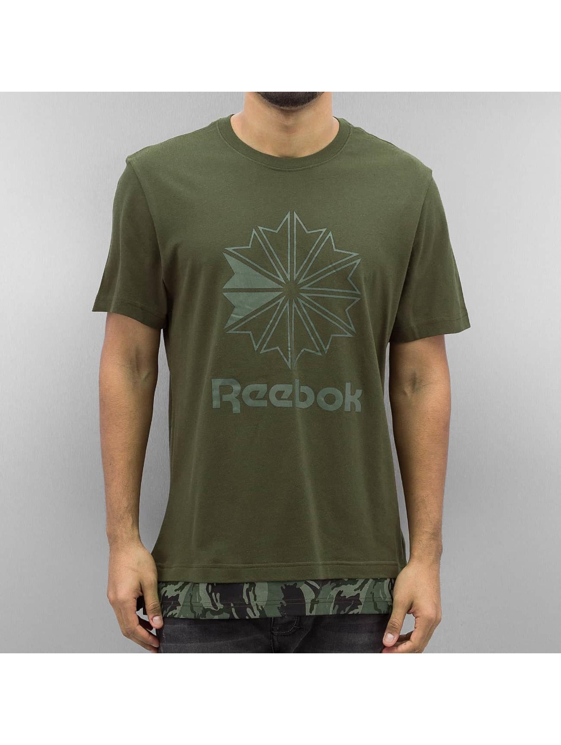 Reebok Tričká Layered zelená