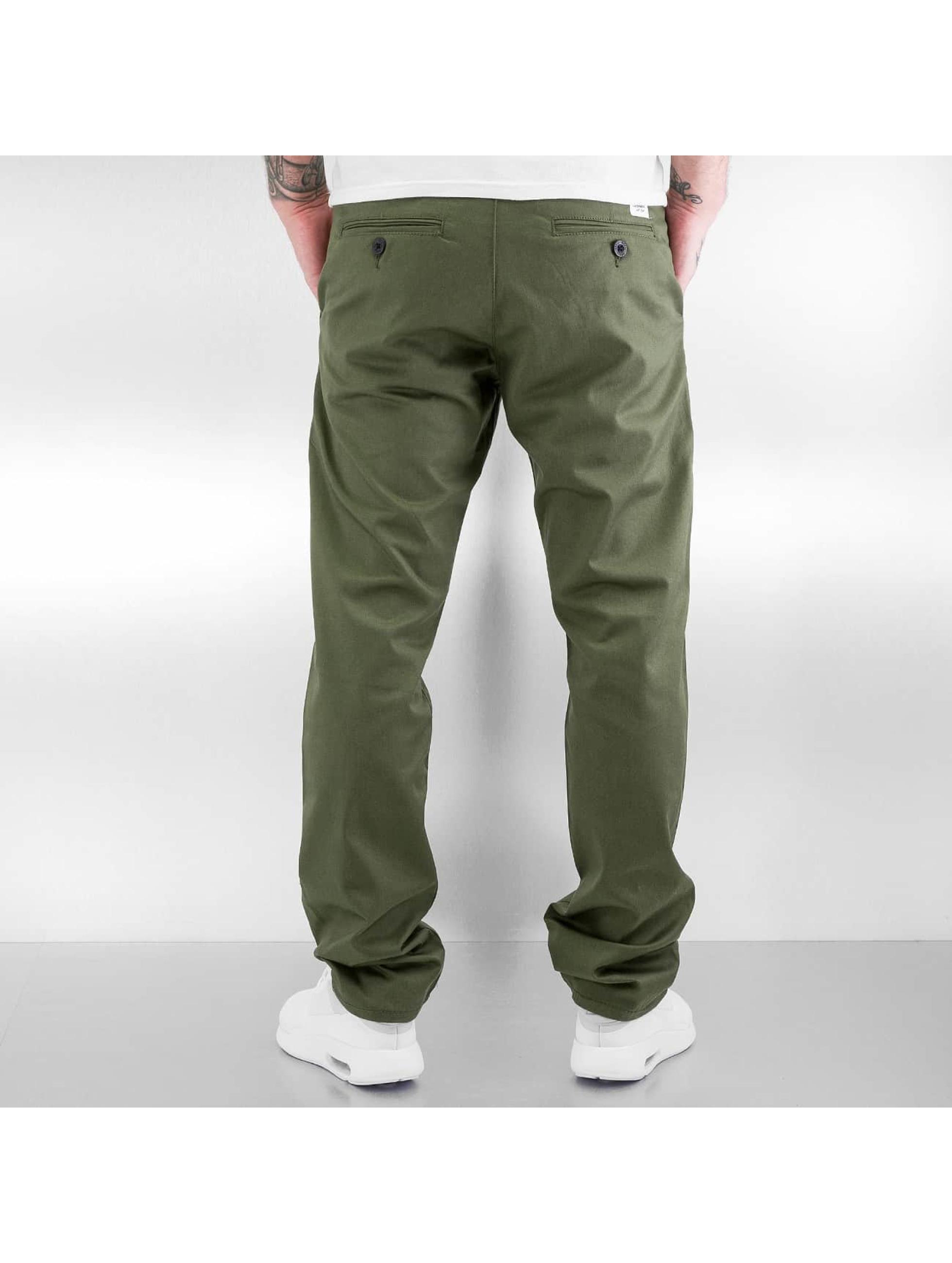 Reell Jeans Chinot/Kangashousut Straight Flex oliivi