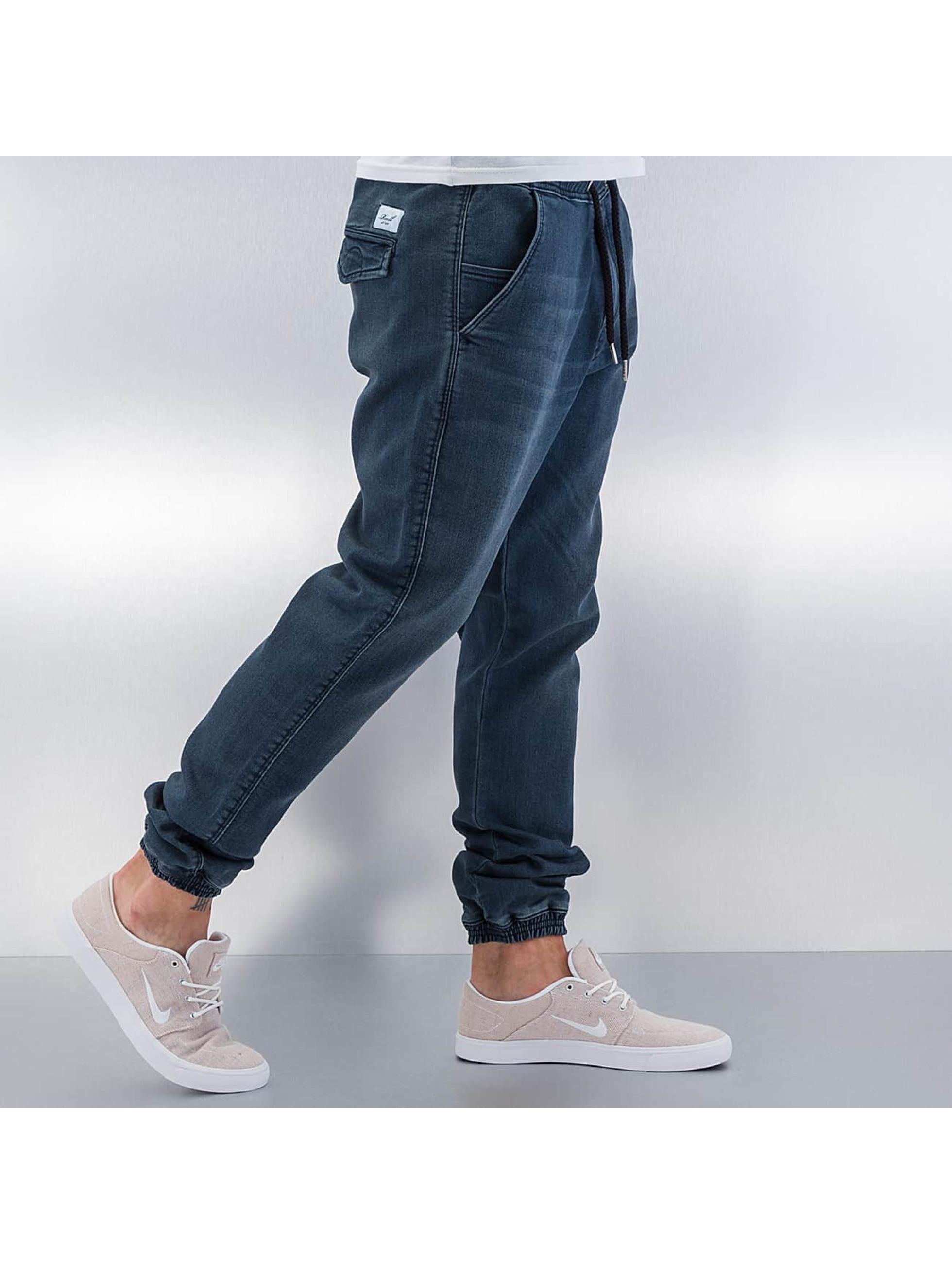 reell jeans herren jogginghose reflex in blau 287110. Black Bedroom Furniture Sets. Home Design Ideas